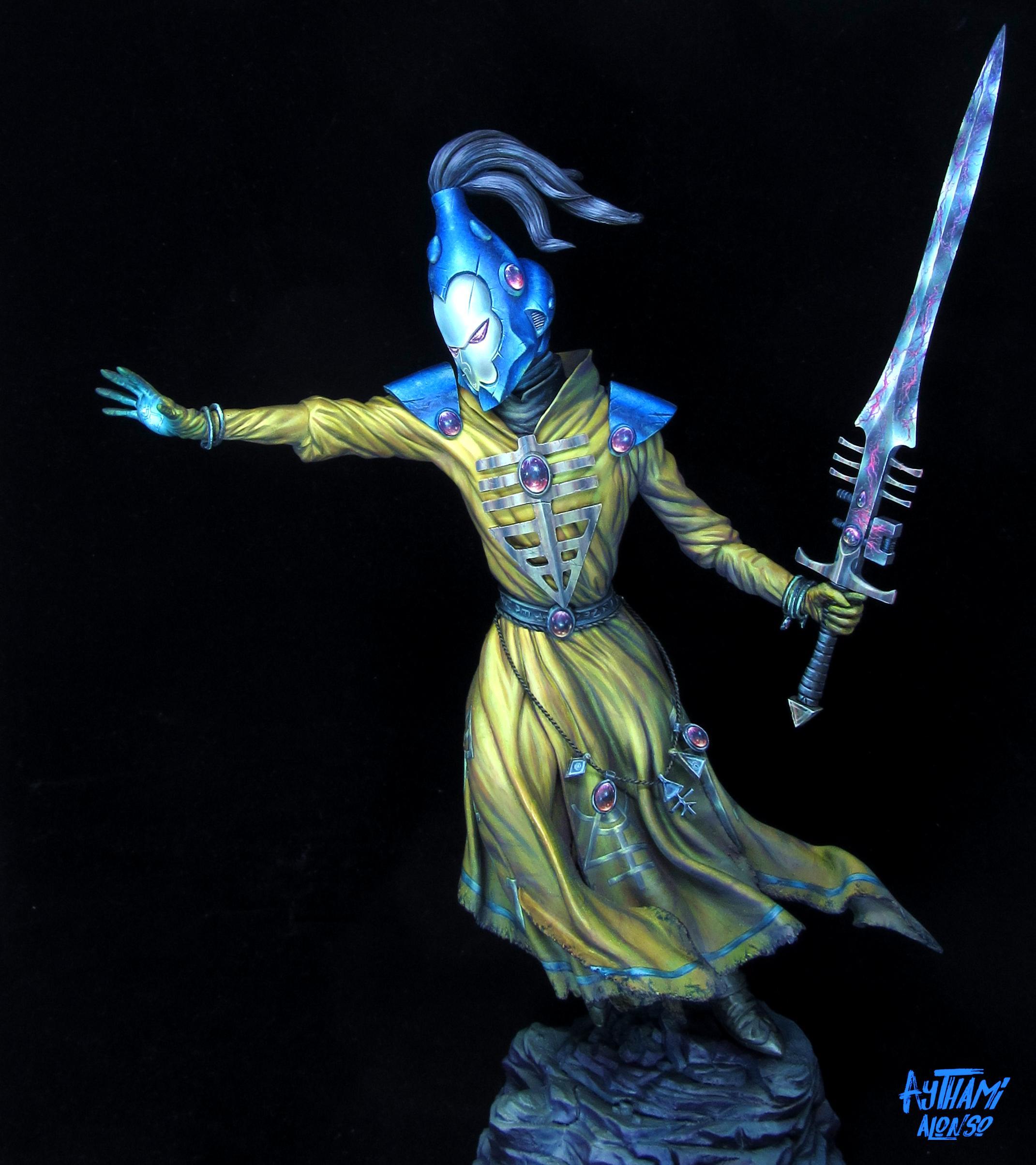 40.000, Eldar, Eldar Warlock, Golden Demon, Iyanden, Professional Painted, Warlock