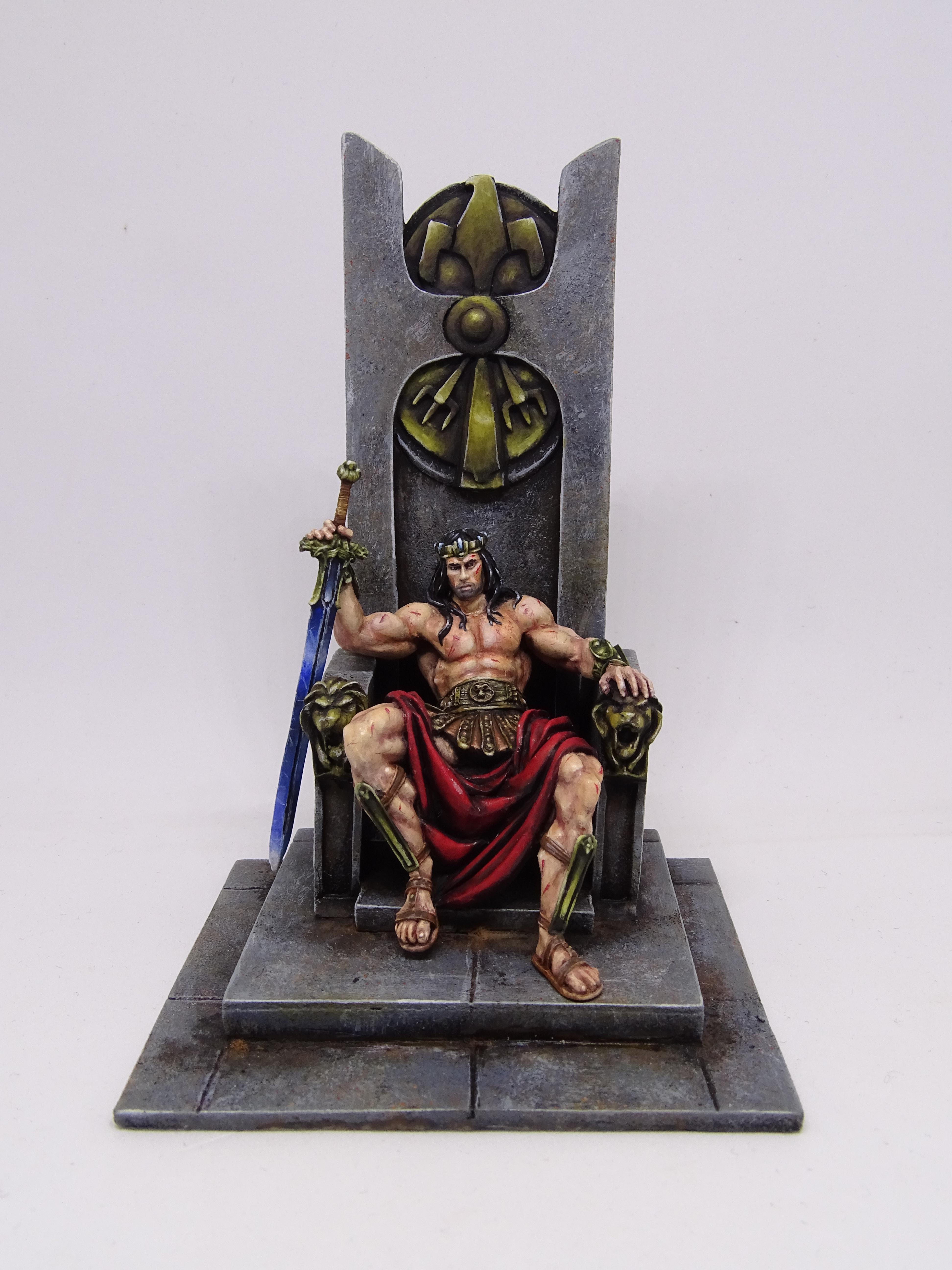 Barbarian, Conan, King, Throne