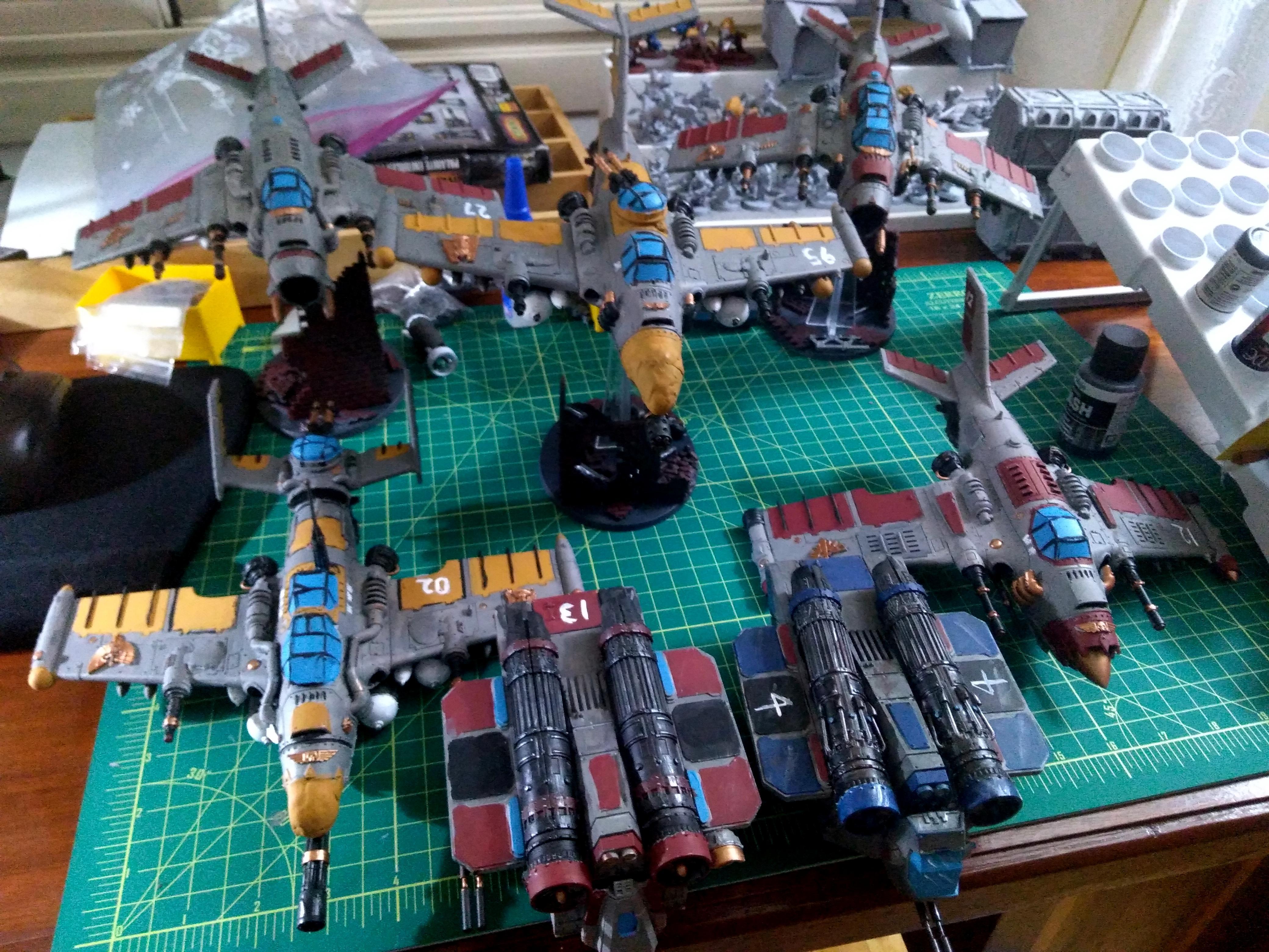 Arvus Lighter, Avenger, Dakkajet, Flyer, Imperial Guard, Lighting, Thunderbolt