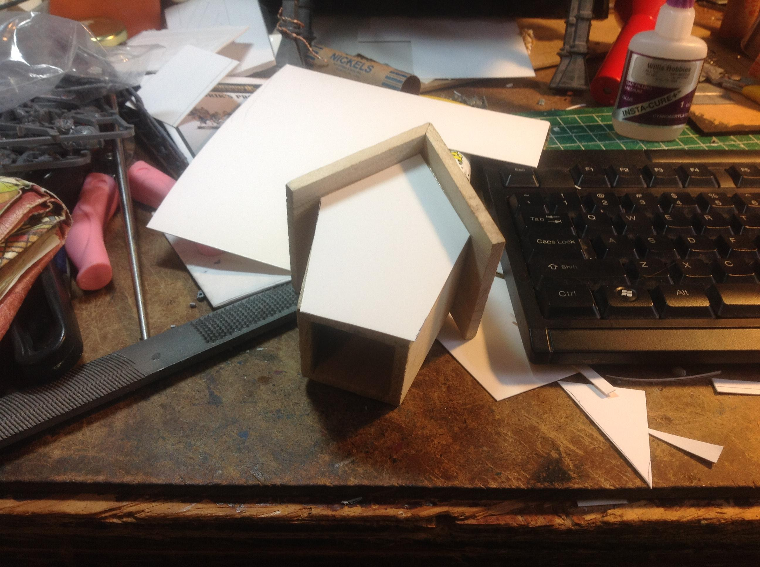 Birdhouse, Cardstock, Easy, Inq28, Inquisimunda, Kill Team, Killteam, Kitbash, Necromunda, Papercraft, Spacehulk, Terrain, Vent, Waaazag, Warhammer 40,000, Wood, Work In Progress