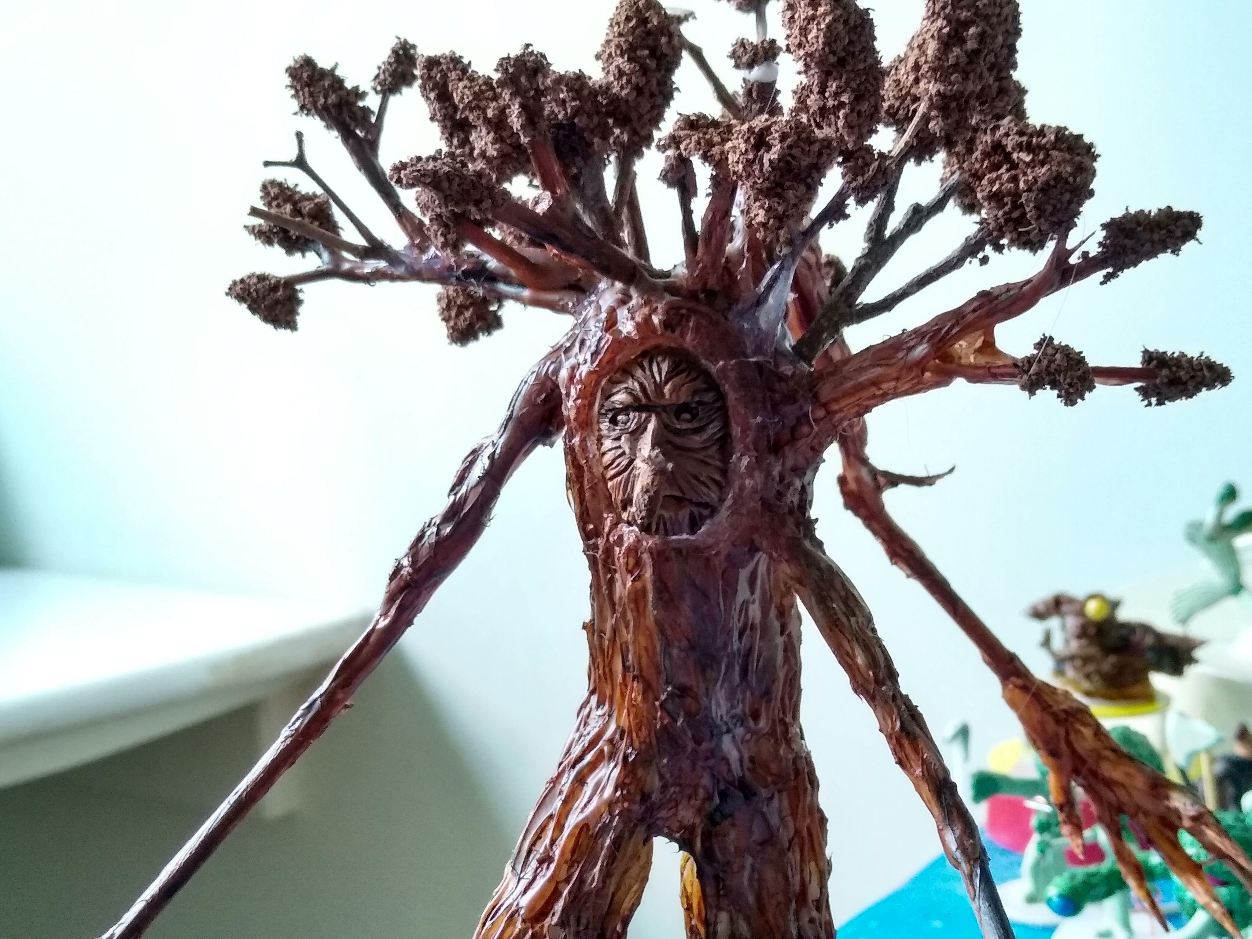 Dragon, Dungeons, Dungeons And Dragons, Ent, Mini, Miniature, Sculpting, Treant
