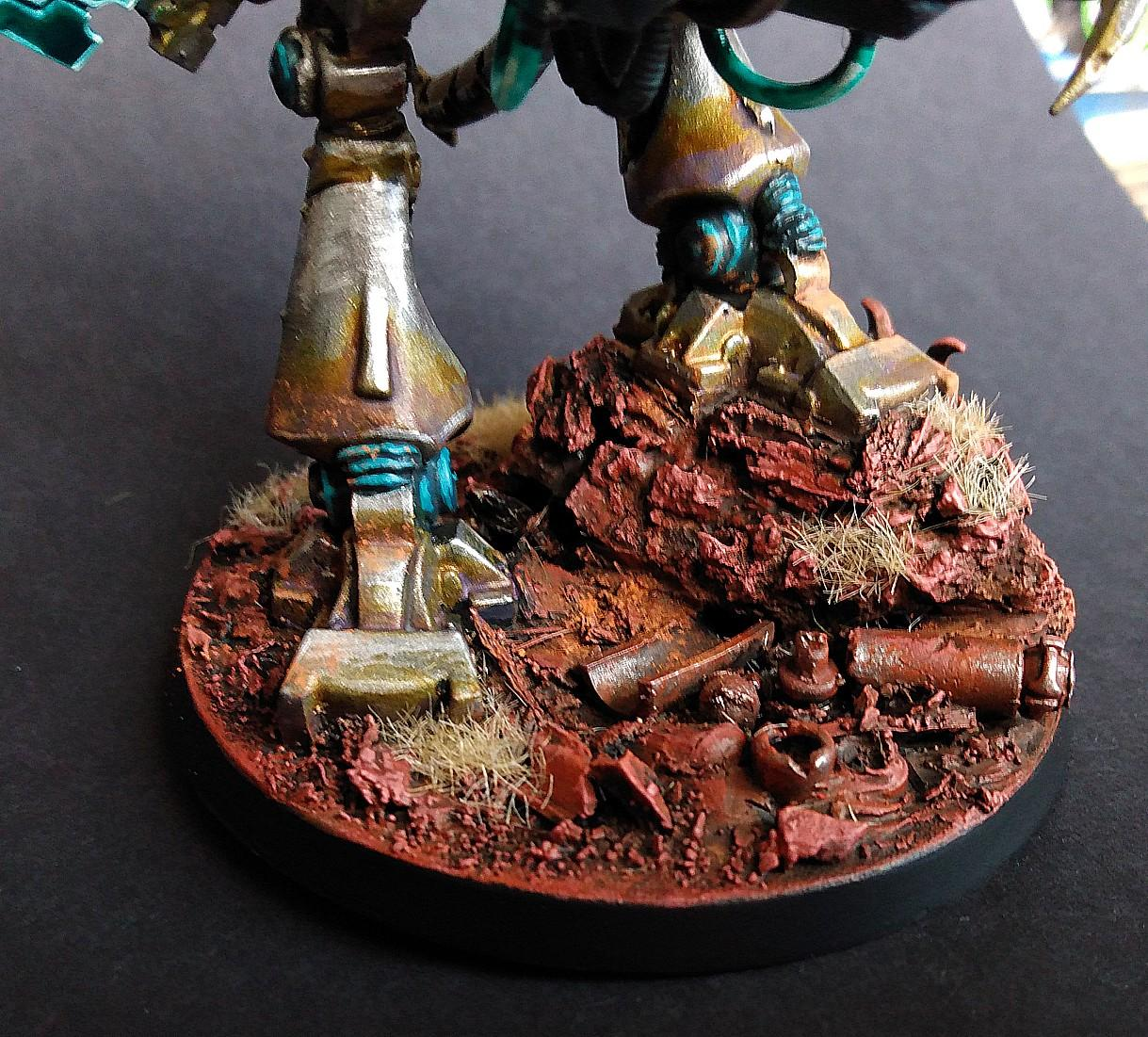 Necron Color Scheme, Necron Paint Scheme, Painted Skorpekh Lord, Skorpekh Lord, Weathering Powder