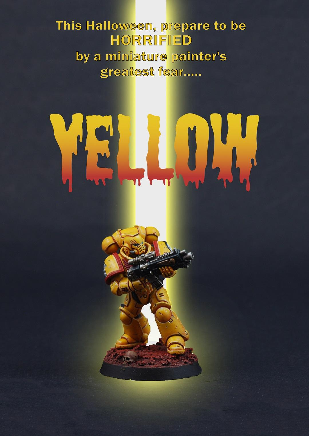 Humor, Imperial Fists, Painting, Primaris, Yellow
