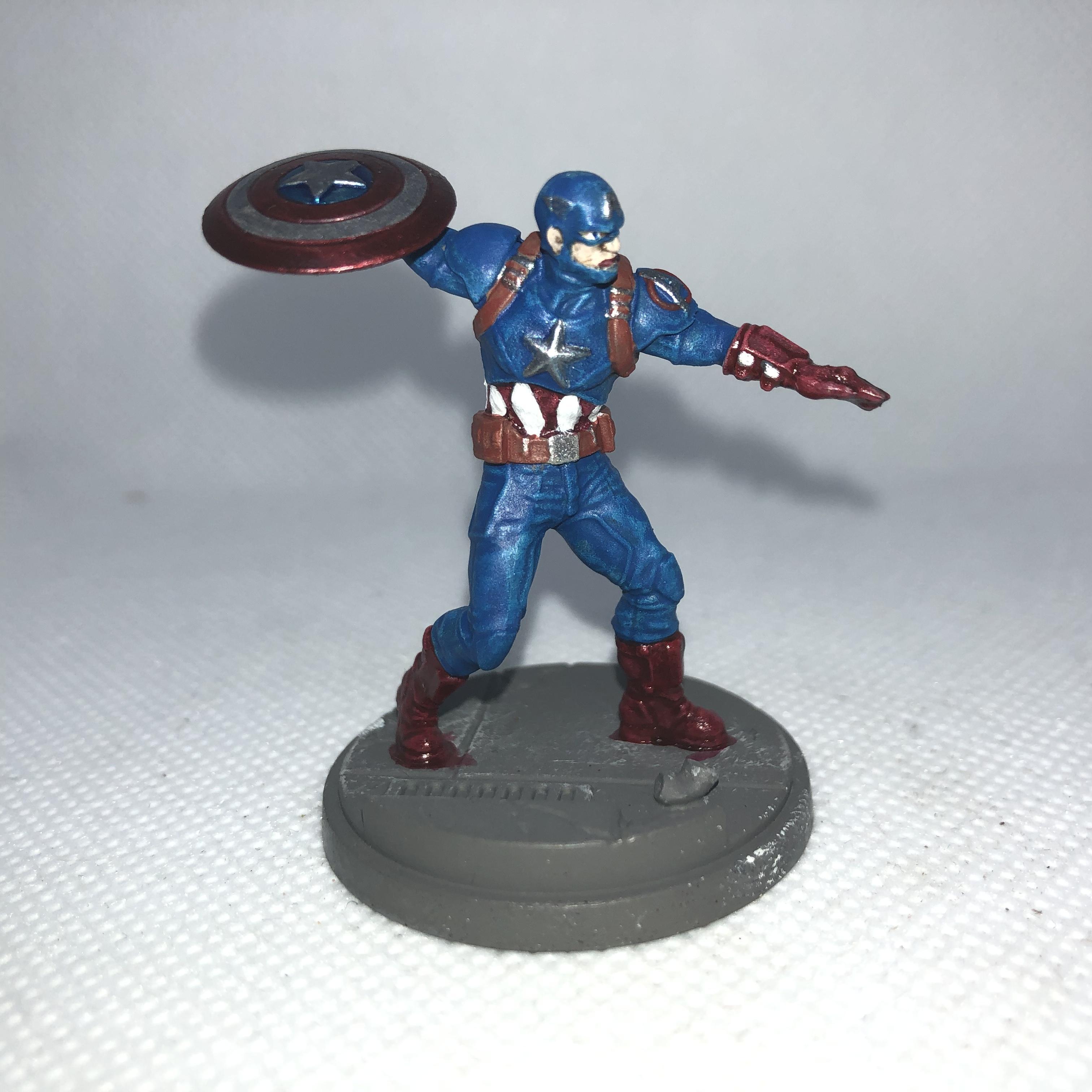 Captain America, Crisis Protocol, Marvel, Superhero, Work In Progress