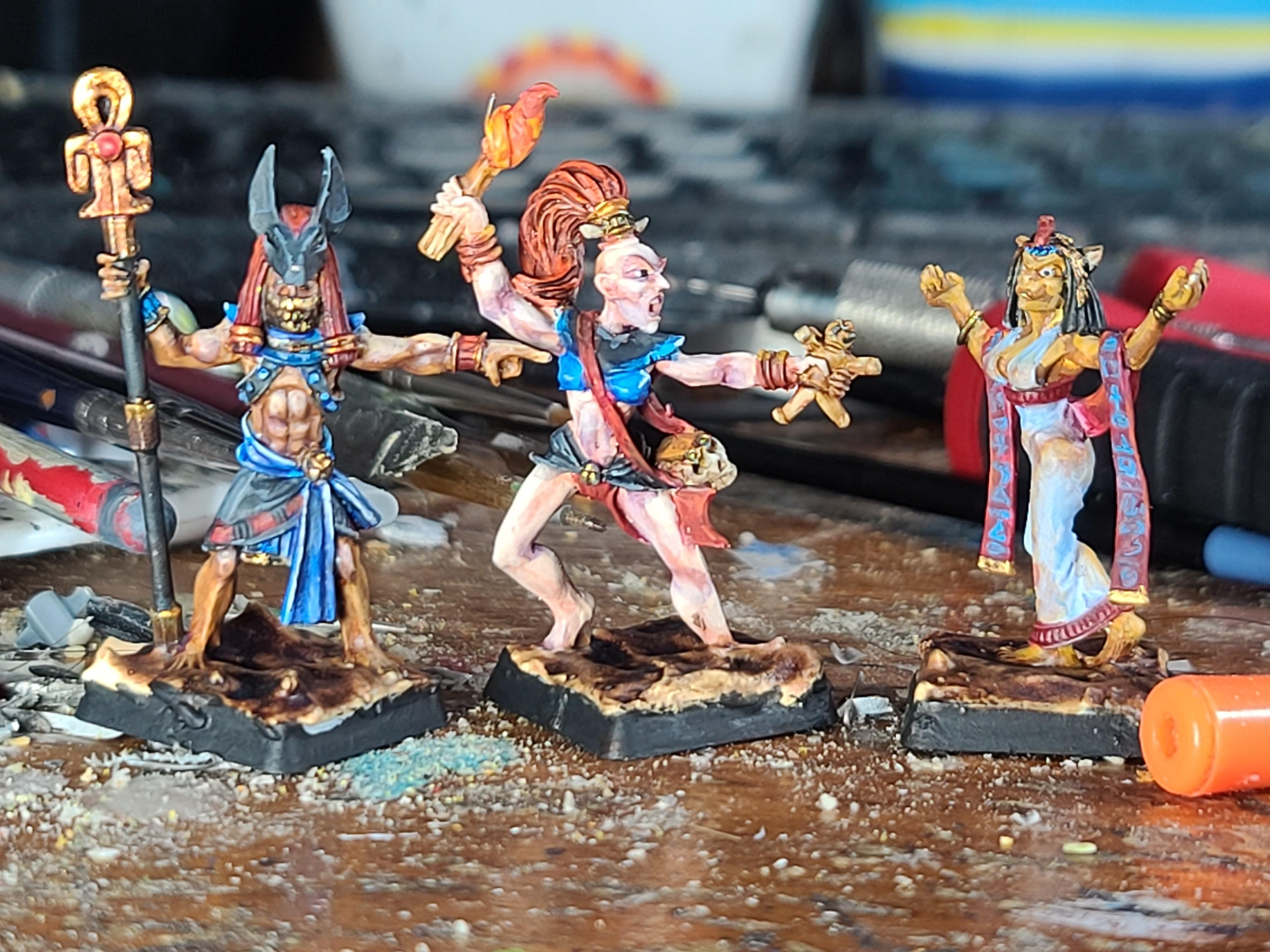 Aegyptus, Asar, Basti, Catgirl, Crocodile Games, Human, Preists, War Gods