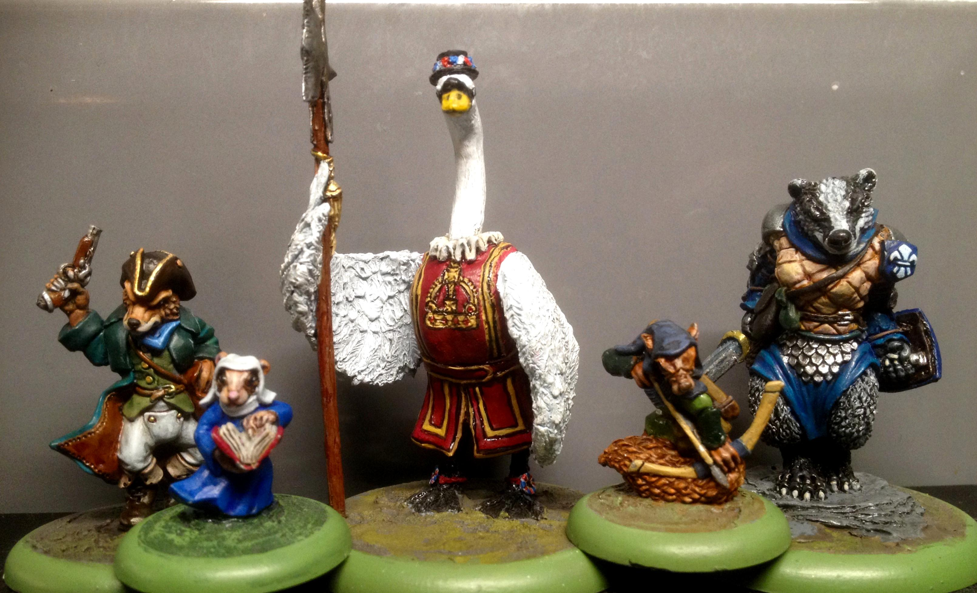 Anthropomorphic Animals., Beefeater, Burrows And Badgers, Furry, Greenstuff, Oathsworn, Sculpting, Swan, Yeoman Guards
