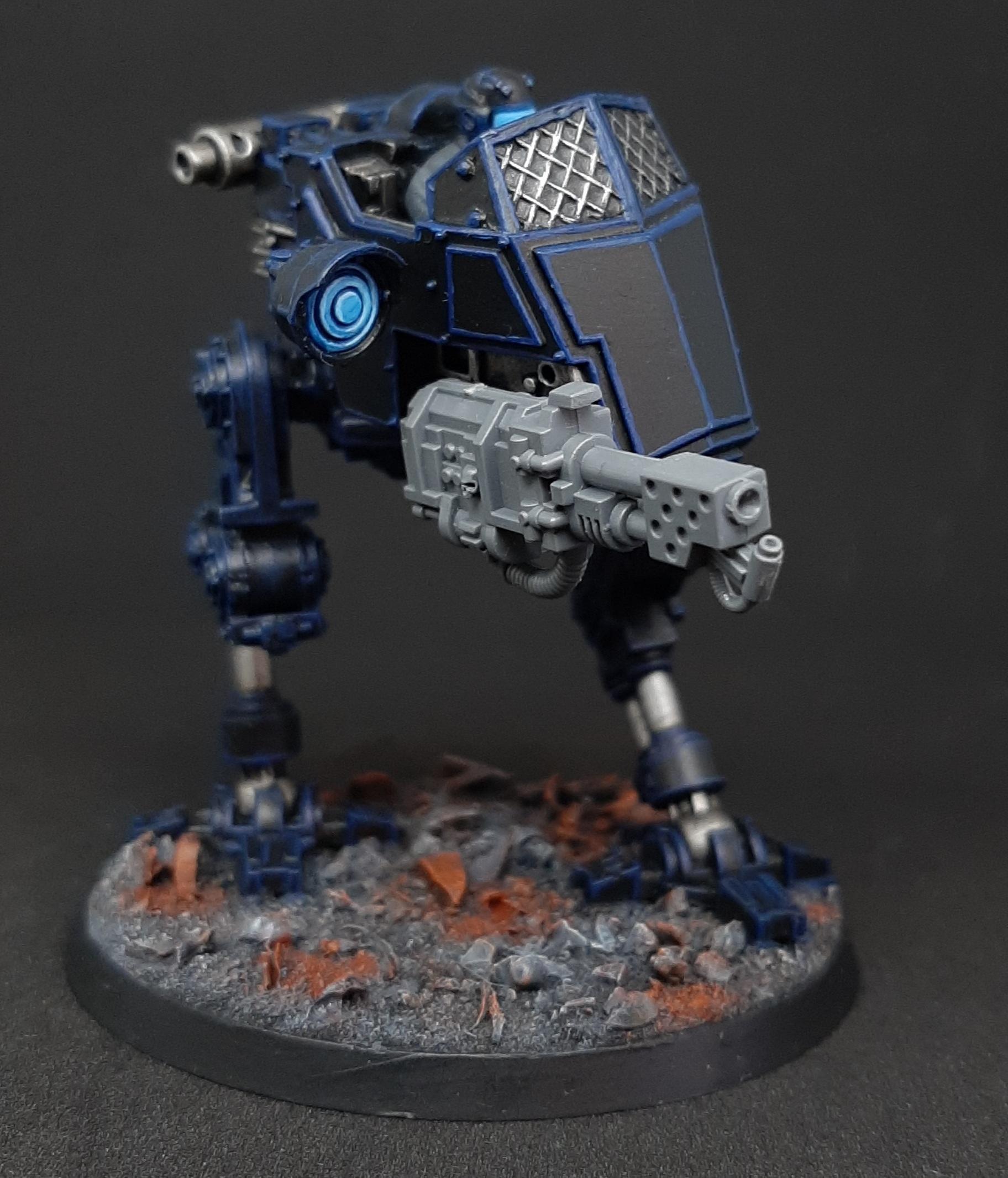Adeptus, Adeptus Arbites, Autocannon, Bolter, Necromunda, Sentinel, Slugger, Underhive