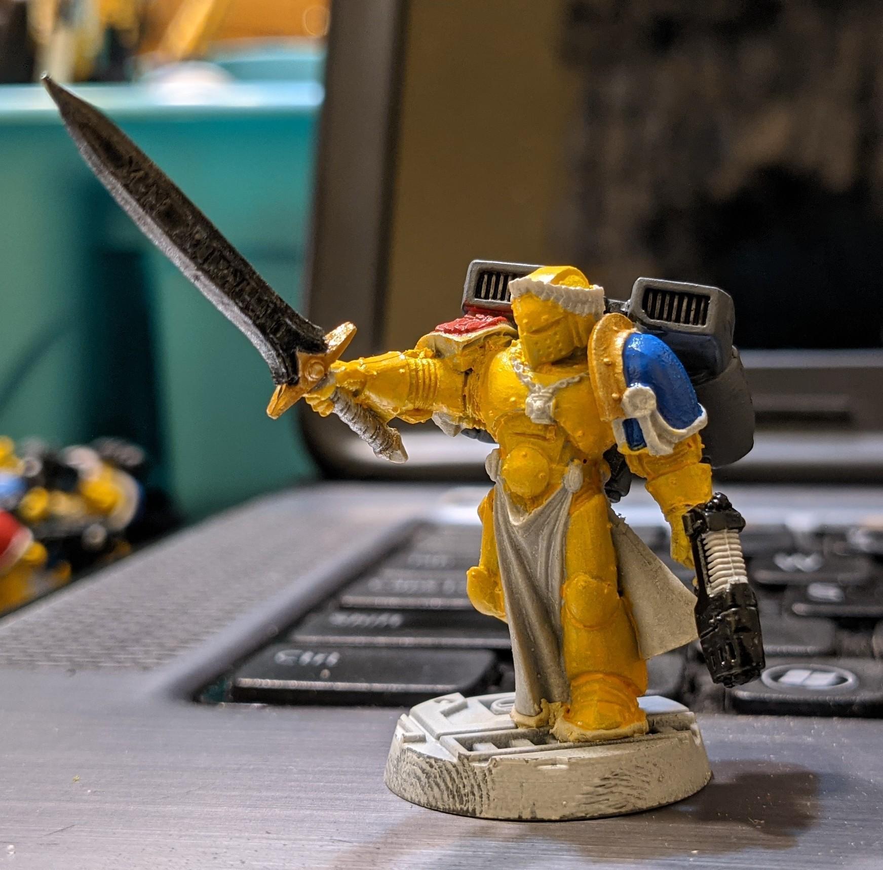 Emperor's Champion, Space Marines, Vanguard Veterans, Work In Progress