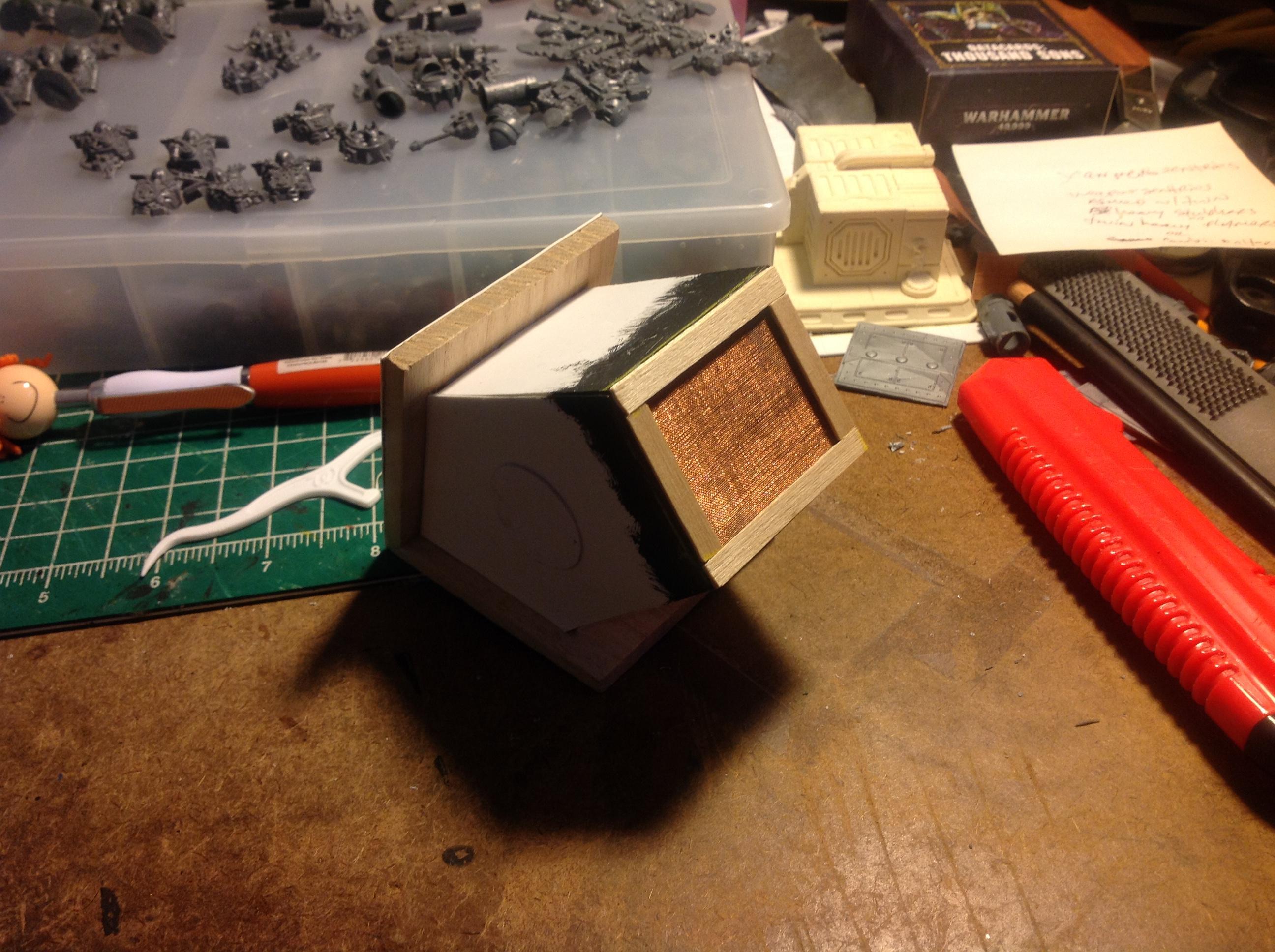 Found Objects, Scratch Build, Spacehulk, Terrain, Vent, Waaazag, Work In Progress