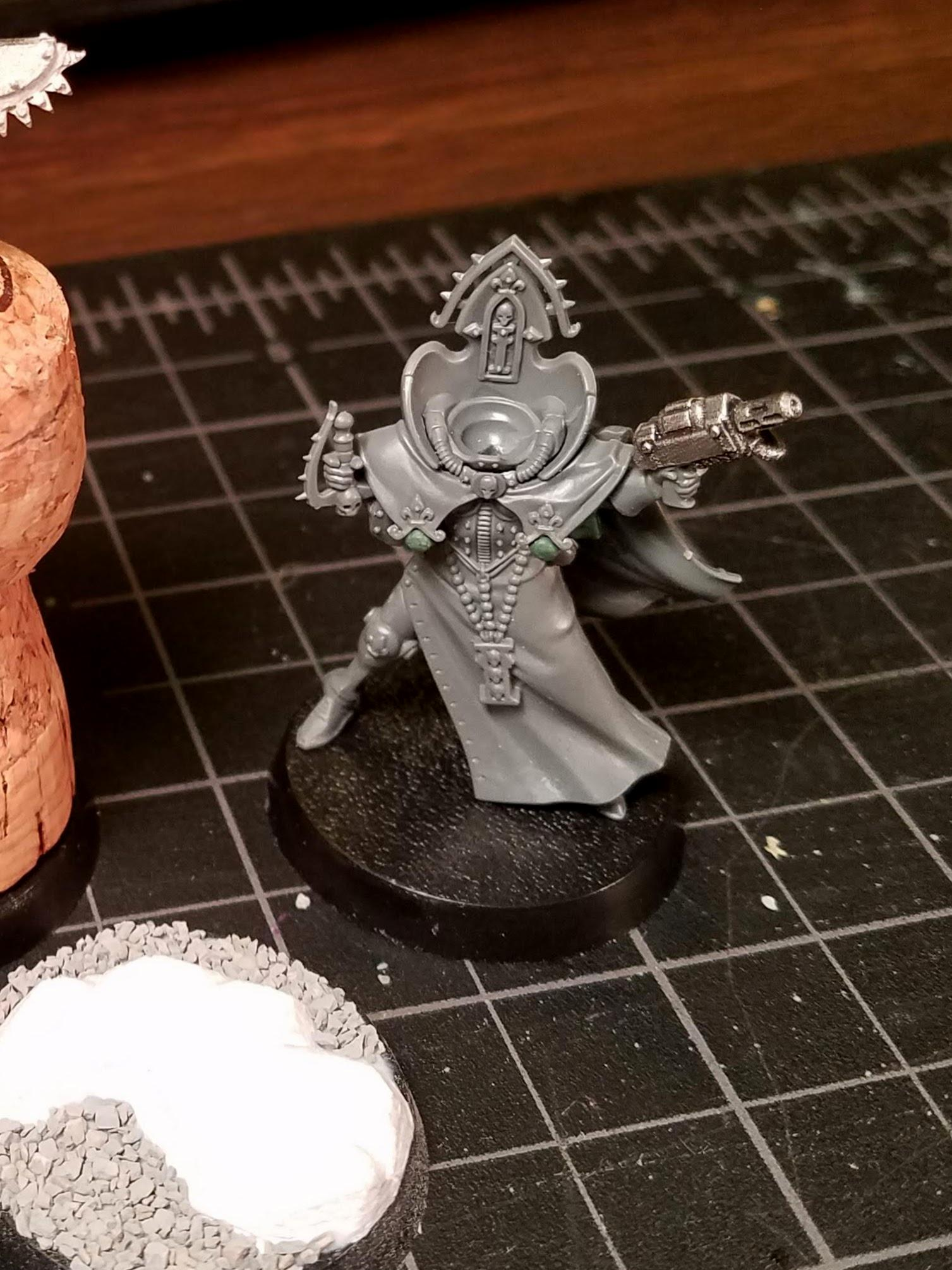 Dry-fitting the custom Canoness