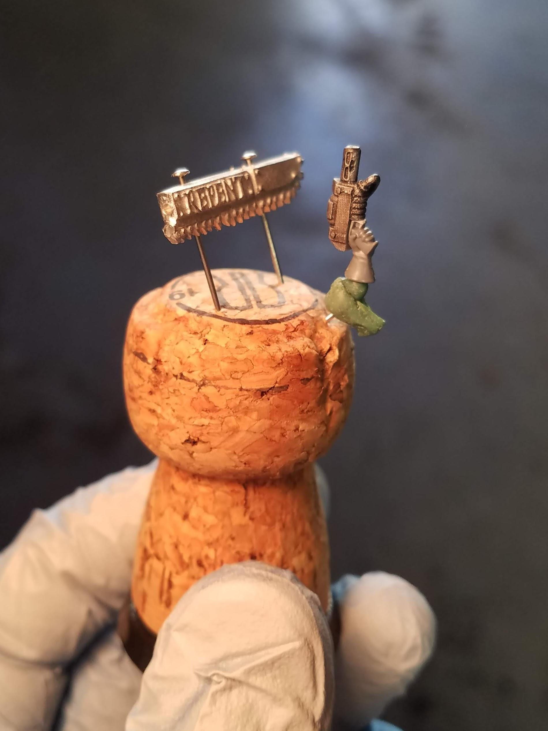 Custom arm ready for paint