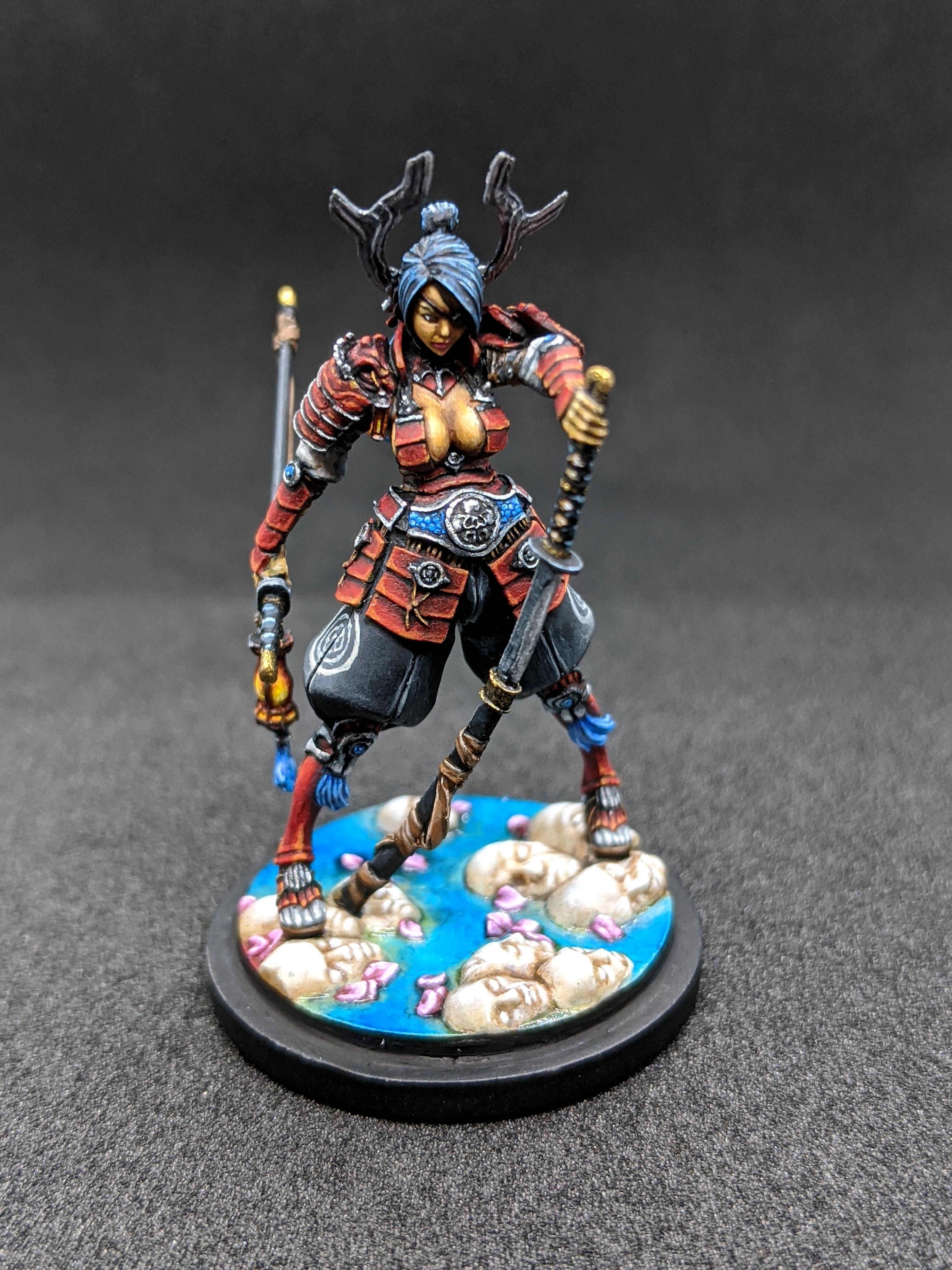 Bushido, Female, Generic Class, Kingdom Death, Resin, Samurai