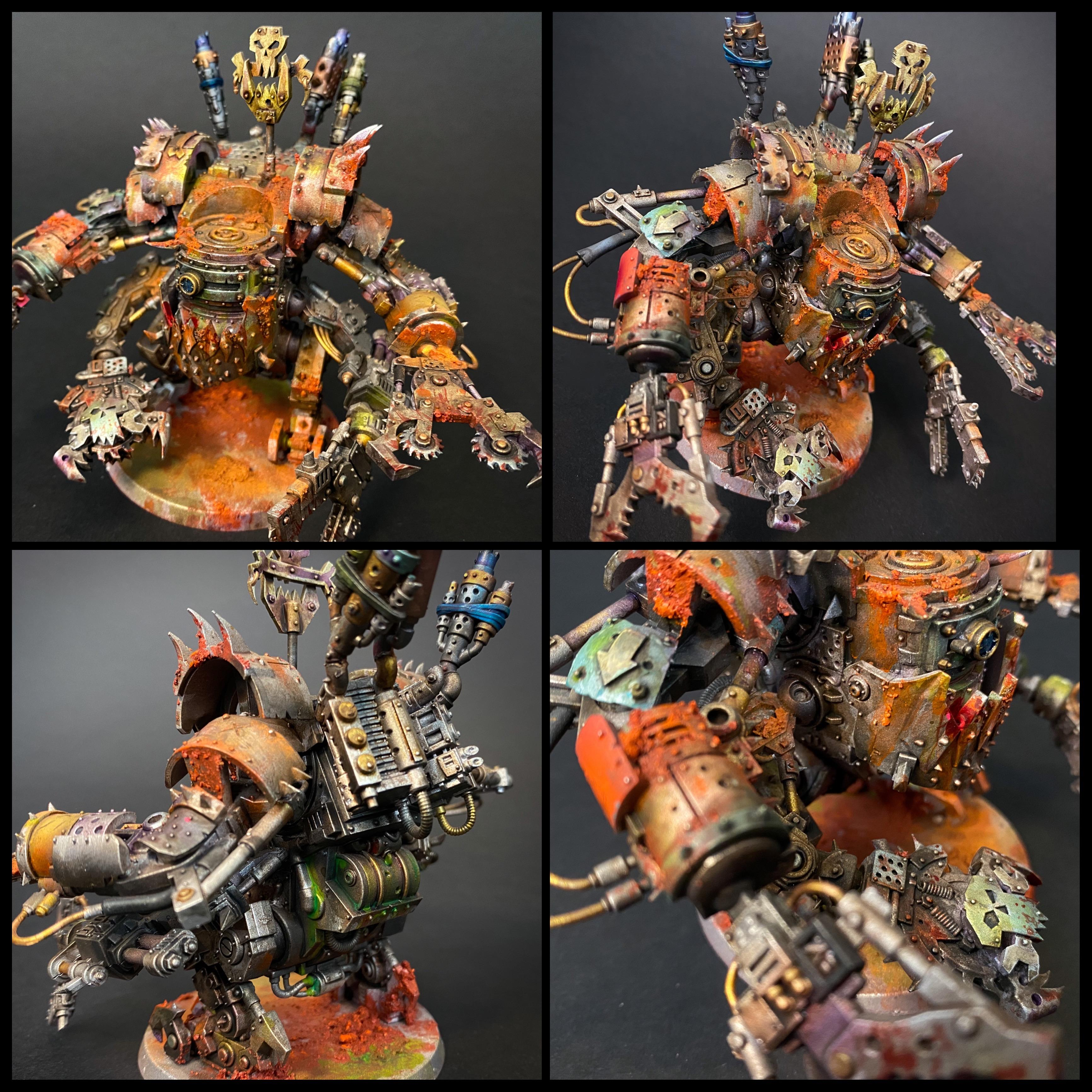Airbrushed, Def Dread, Orks, Rust, Warhammer 40,000, Weathered