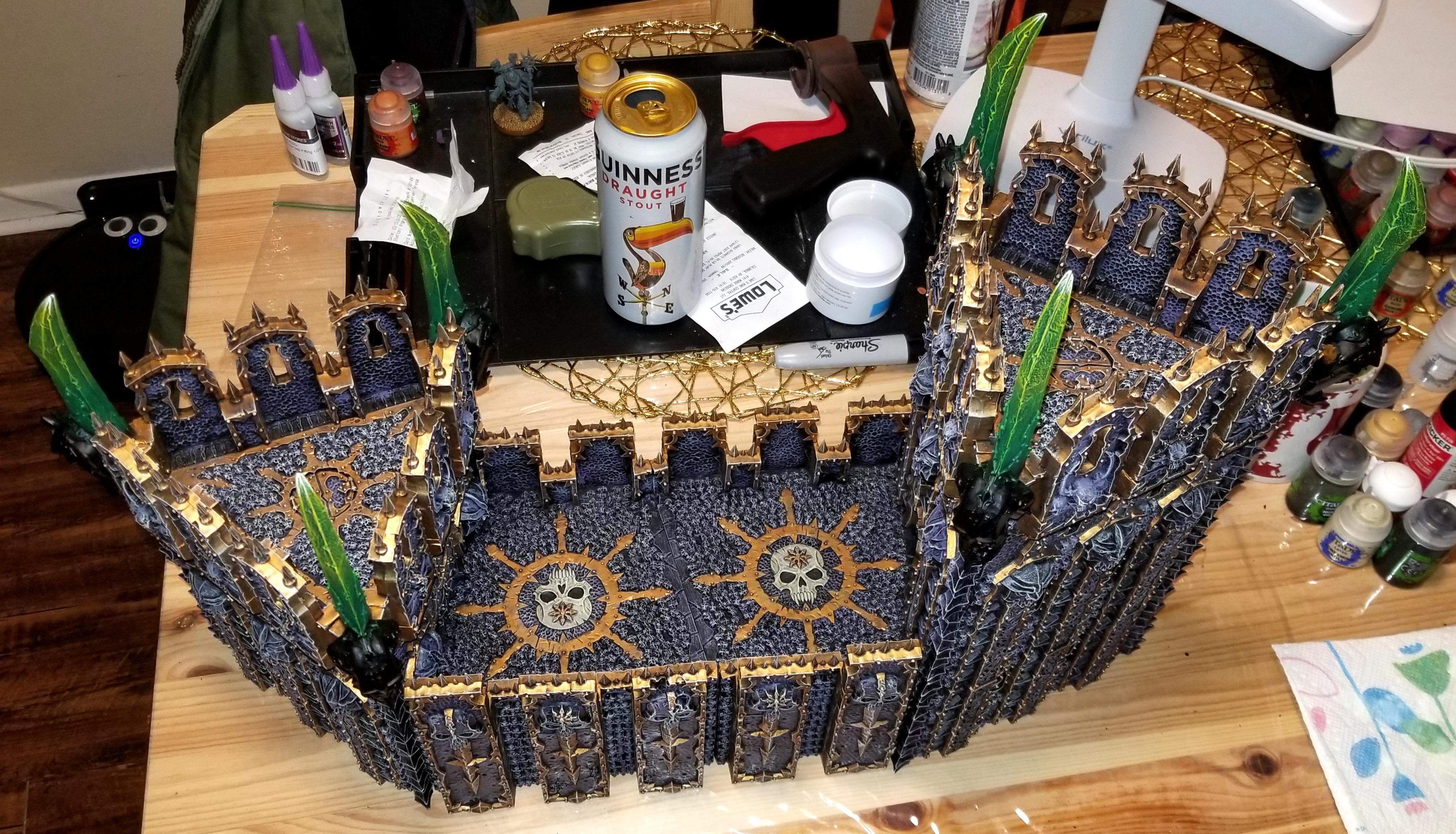 Chaos, Chaos Space Marines, Dreadhold, Fortress, Stronghold, Terrain, Warhammer 40,000, Warhammer Fantasy