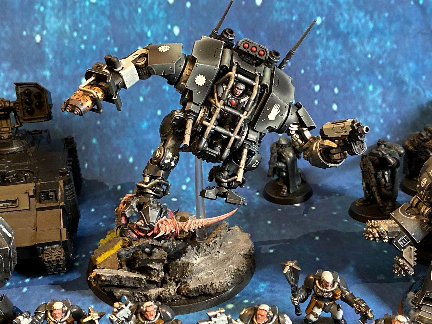 Dreadnought, Invictor, Iron Hands, Open Topped, Warhammer 40,000