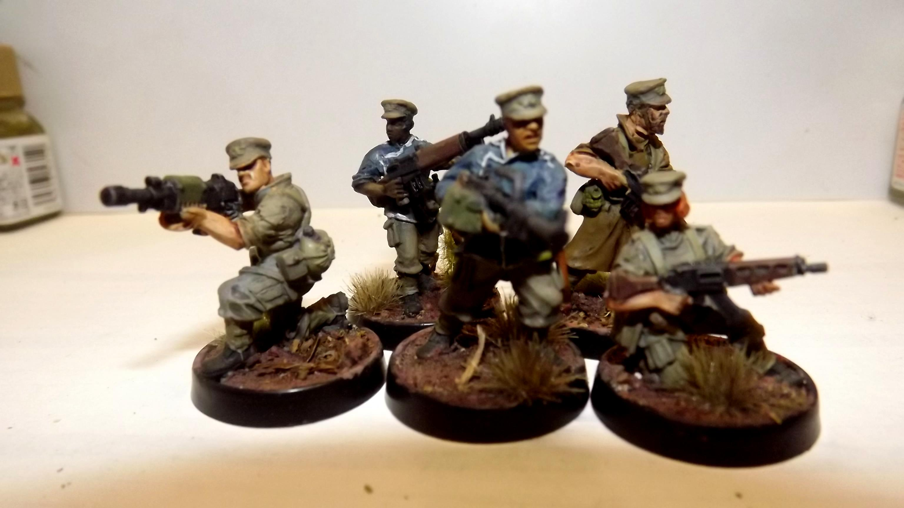 Law Enforcement, Machinegun, Police, Security Team, Suppression, Victoria Miniatures