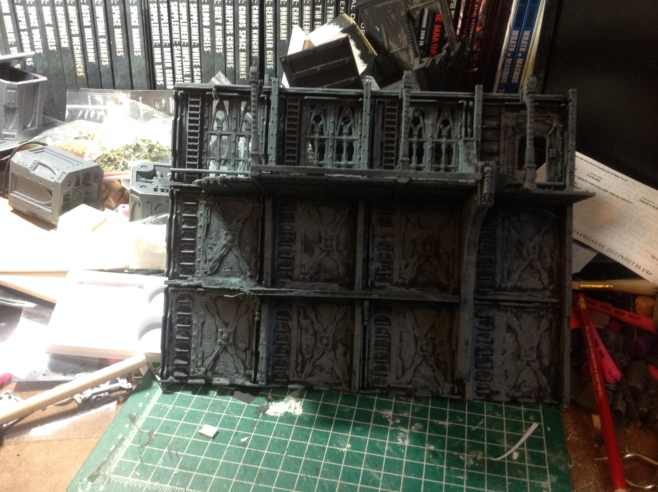 Necromunda, Pip, Spacehulk, Terrain, Waaazag, Warhammer 40,000, Work In Progress