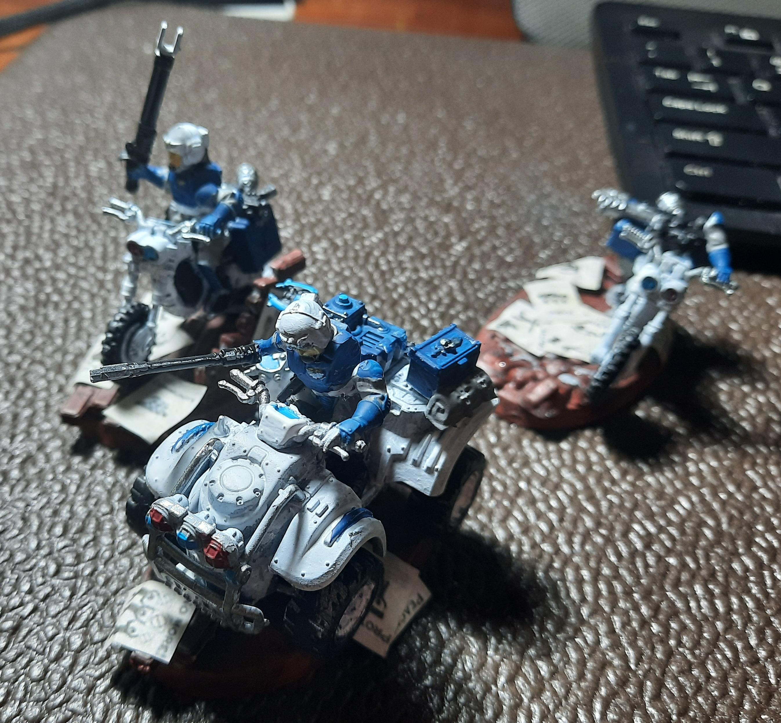 Adeptus Arbites, Bike, Imperial Guard, Jackals, Motorcycle Cops