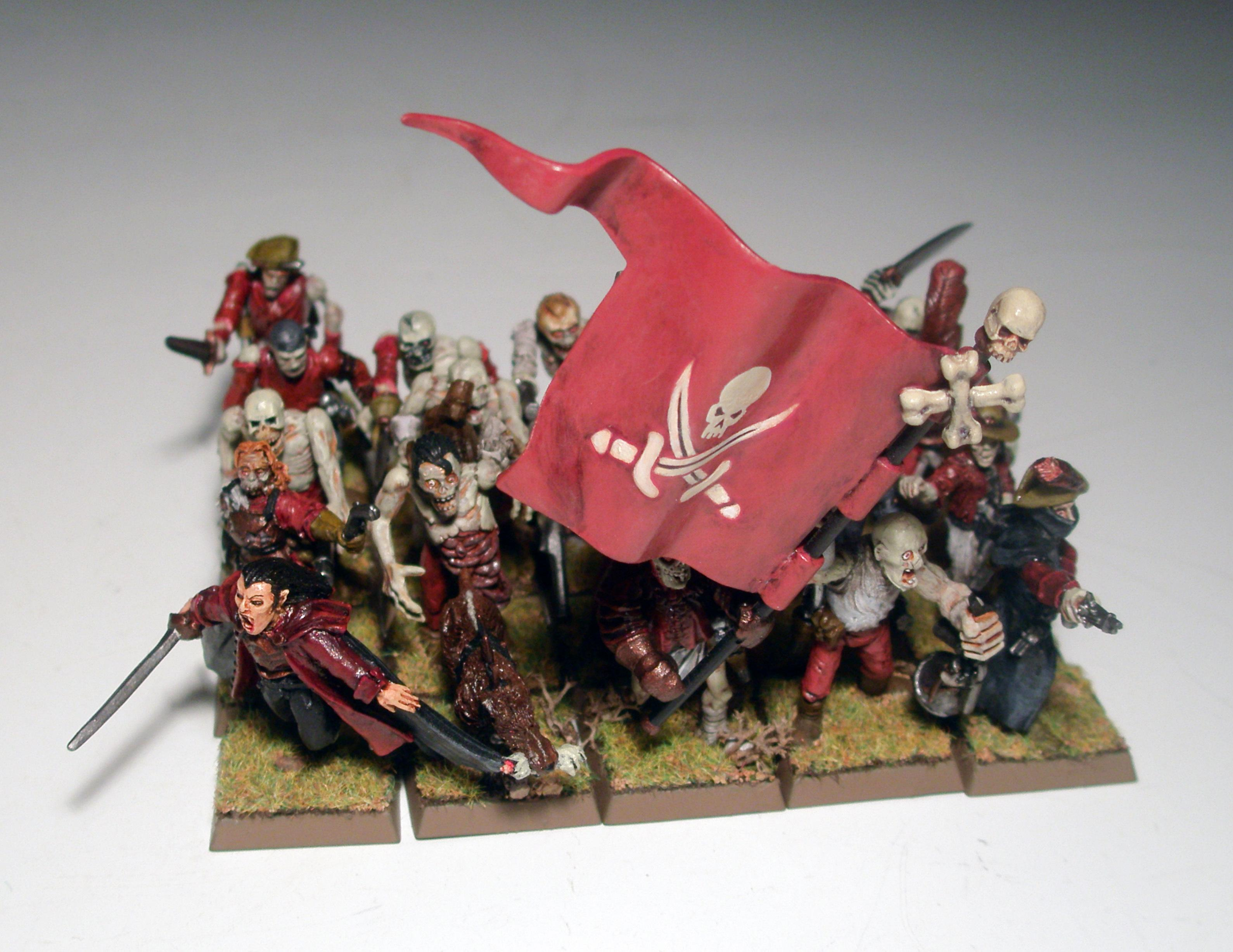 Luthor Harkon, Vampire Counts, Warhammer Fantasy, Zombie Pirate Gunnery Mob, Zombie Pirates
