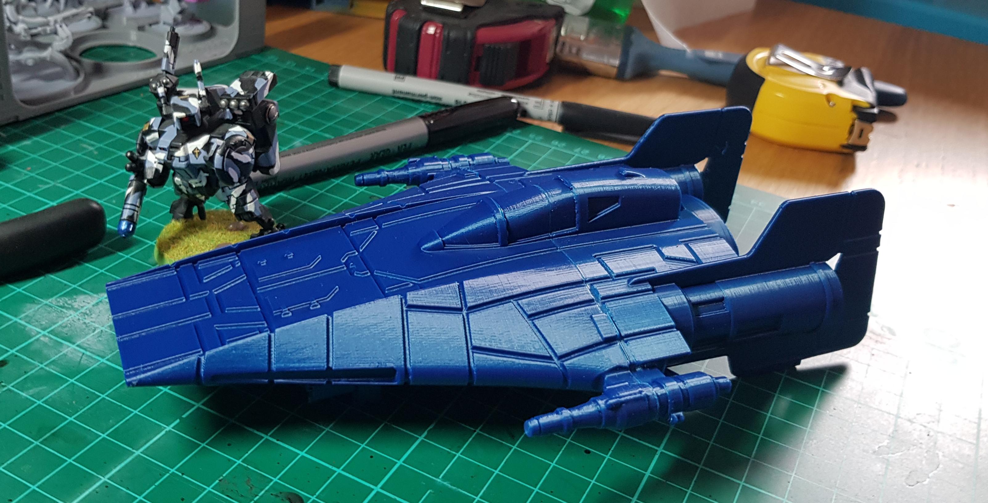 3d, A-wing, Build, Print, Prusa