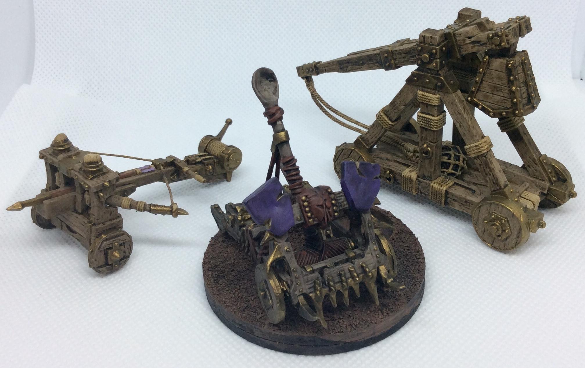 Balefire Catapult, Batista, Catapult, Siege Engine, Trebuchet