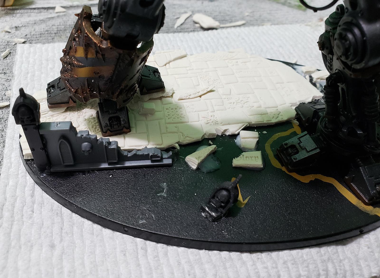 Base, Chaos, Chaos Space Marines, Custom Base, Green Stuff World, Greenstuff World, Iron Warriors, Knights, Roller, Sculpey