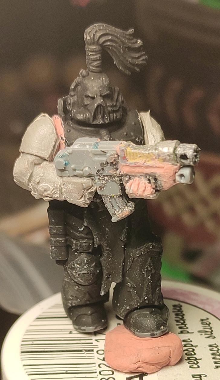 Casting, Chaos, Chaos Space Marines, Combibolter, Combiweapon, Conversion, Heretic Astartes, Kitbash, Putty, Traitor Legions, Warhammer 40,000, Work In Progress