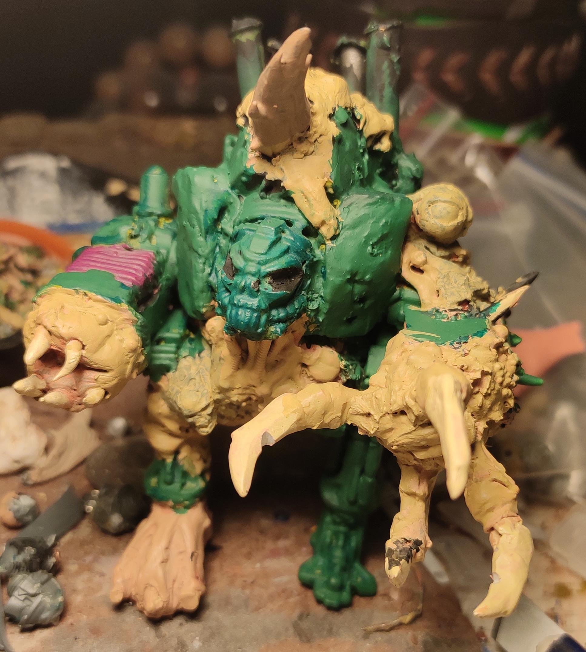 Blight, Chaos, Chaos Space Marines, Claw, Conversion, Death Guard, Decay, Disease, Dreadnought, Eye, Heavy Support, Helbrute, Hell Brute, Heretic Astartes, Nurgle, Pestilence, Plague, Plague Marines, Plasma, Rot, Scratch Build, Sculpting, Tehnolog, Traitor Legions, Warhammer 40,000, Work In Progress