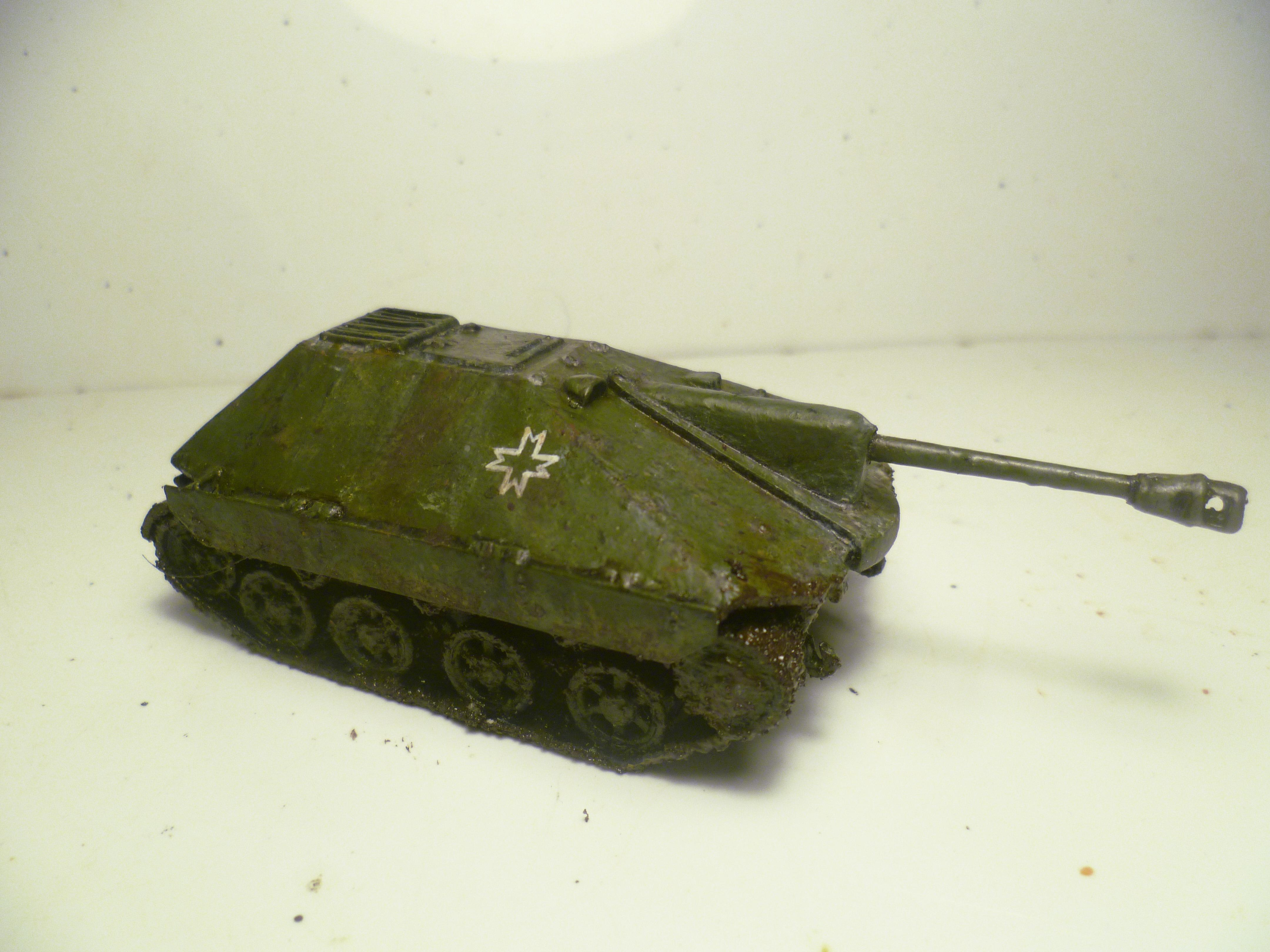 1/56, 2, 28mm, Axis, Conversion, Destroyer, Hetzer, Ii, Panzer, Romania, Romanian, Scratch Build, T-60, Tank, World War, World War 2