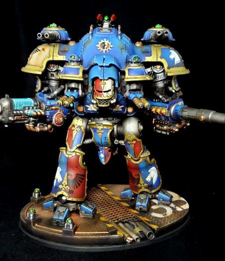Blue, Cockpit, Imperial Knight Castellan, LED, Terryn
