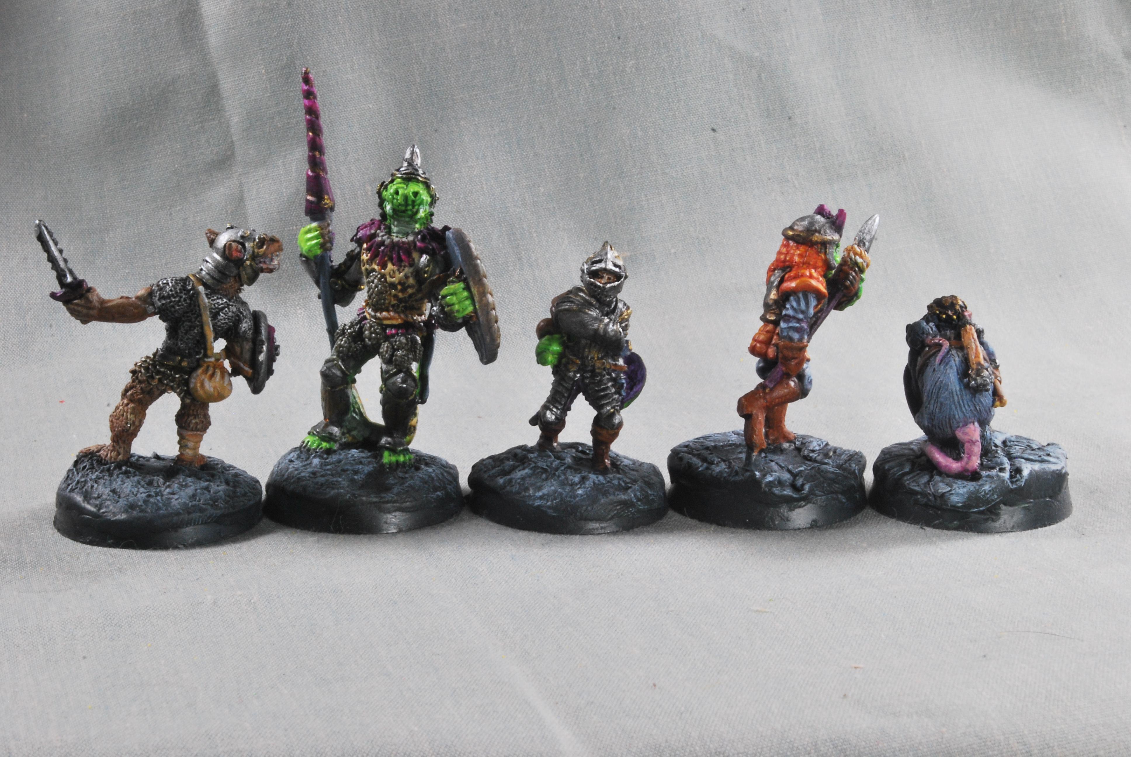 Adventurers, Dungeons And Dragons, Gnoll, Grenadier, Human, Lizardmen, Ratfolk Oldhammer