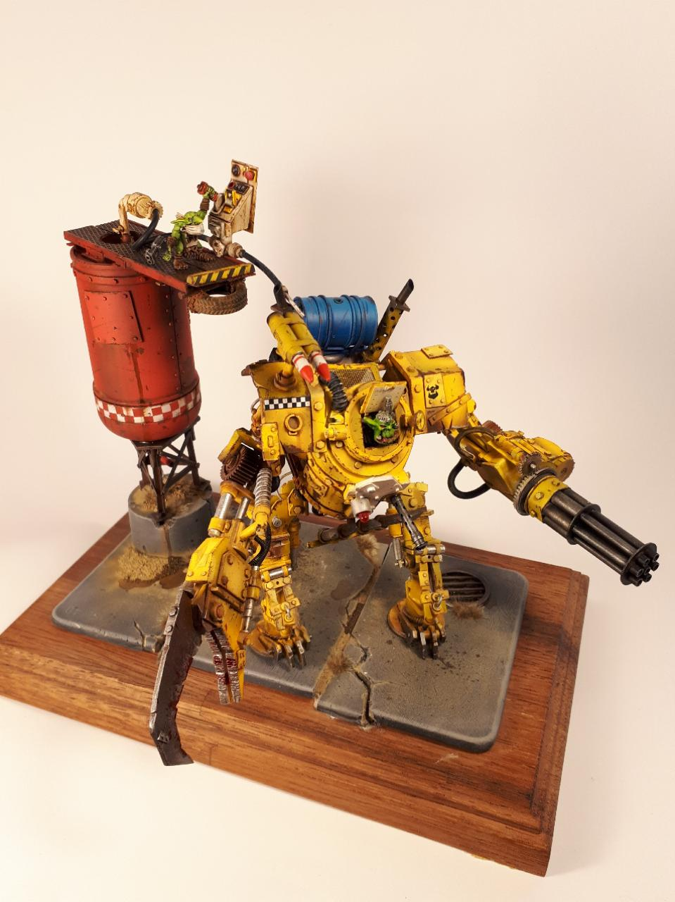 Battle, Deff Dread, Imperial Knight, Knights, Looted, Mecha, Meganob, Orks, Suit