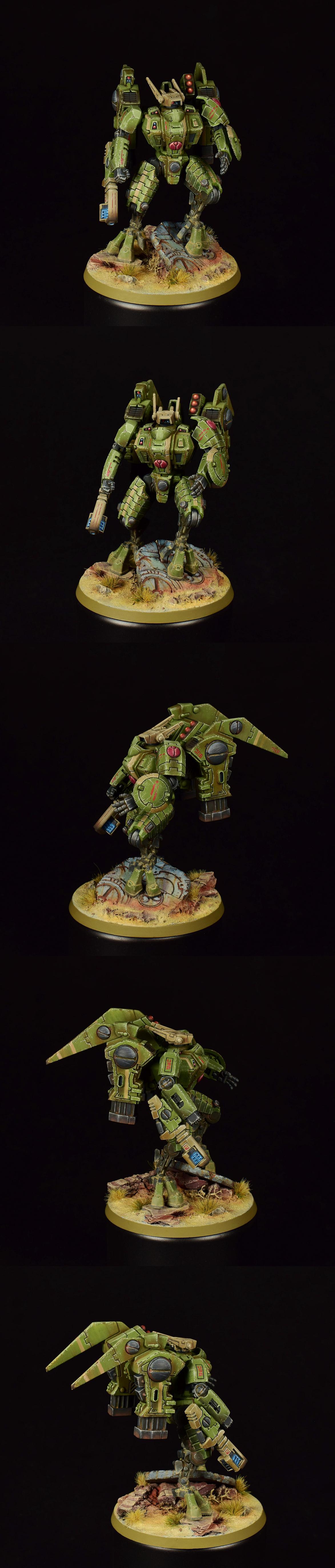 Commander, Tau, Warhammer 40,000, Weathered
