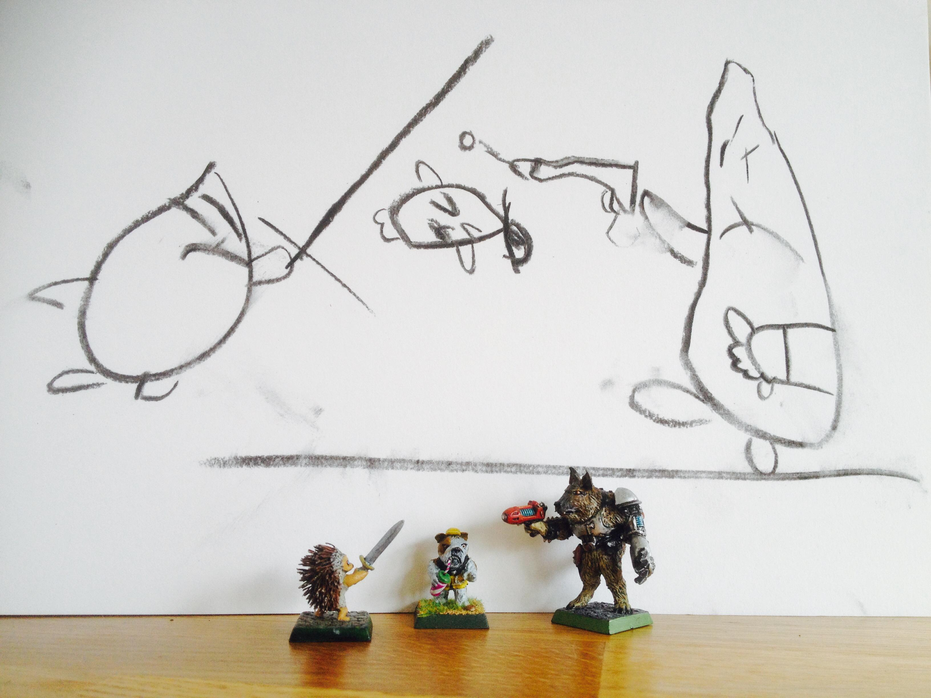 Animals, Anthropomorphic Animals, Cute, Kids, Original Characters, Sculpting, Young Gamers