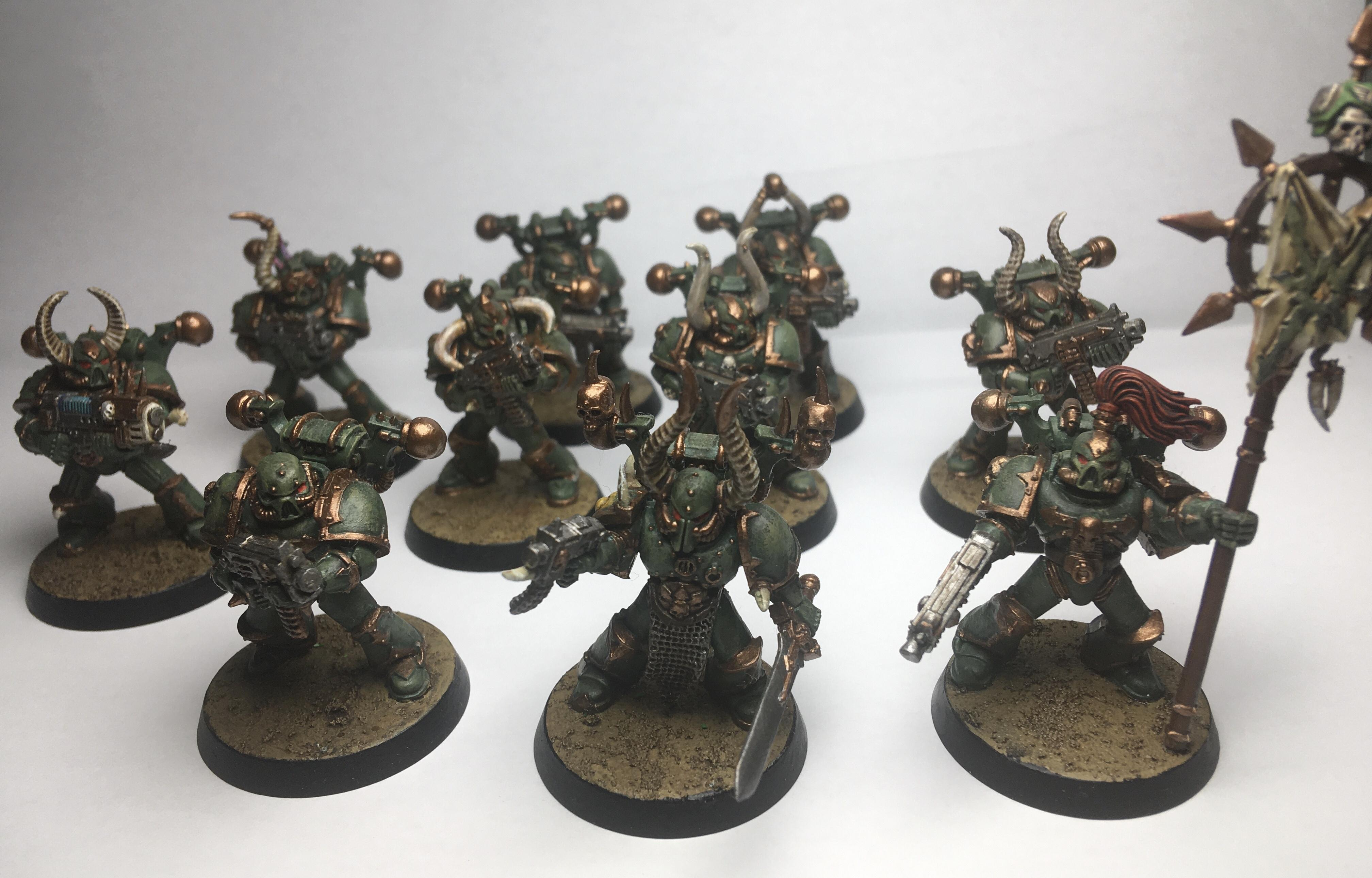 Armageddon Dust, Bolters, Chaos, Chaos Space Marines, Death Guard, Games Workshop, Nurgle, Plasma, Symbol Of Chaos, Tactical Squad, Warhammer 40,000