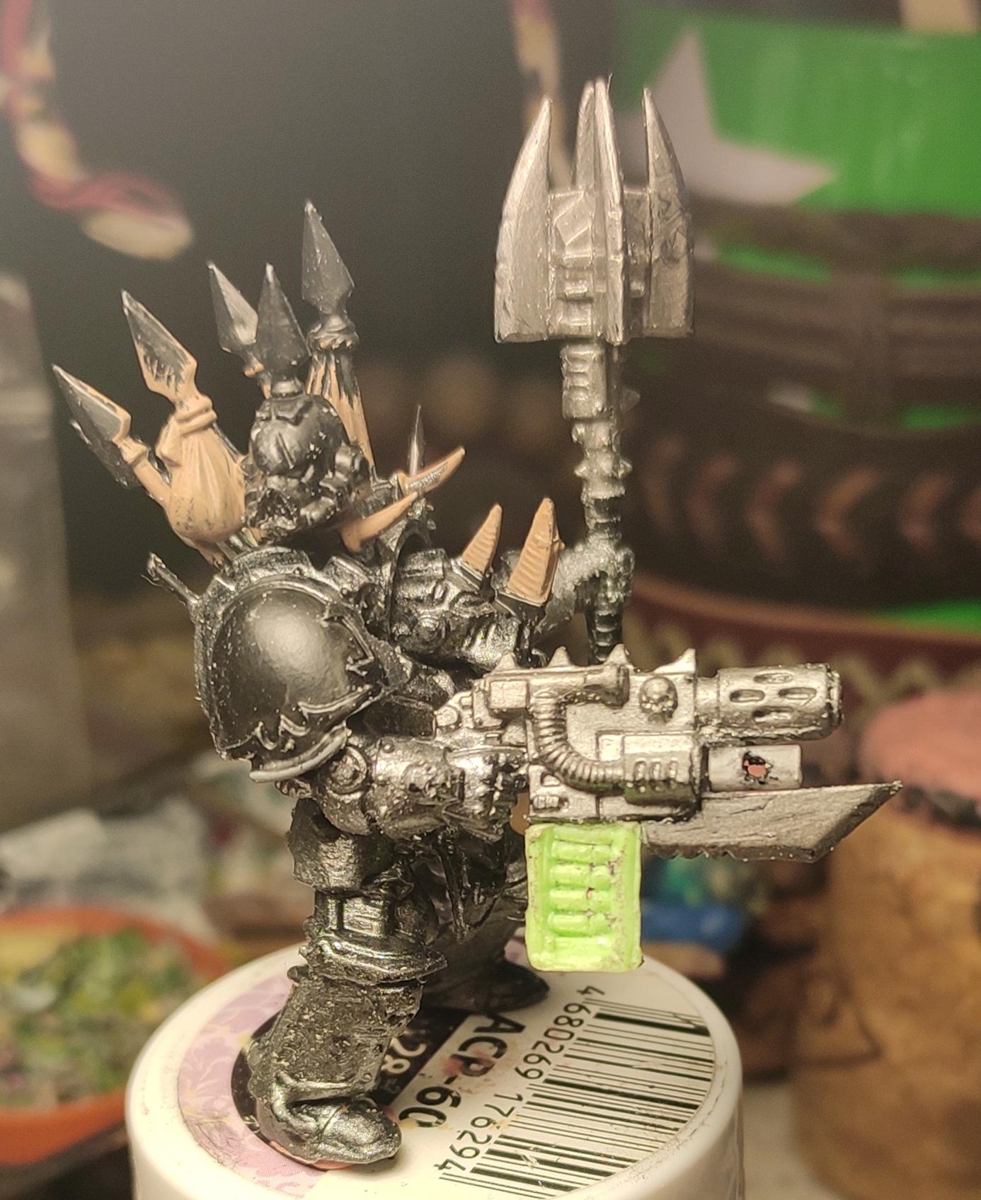 Chaos, Chaos Space Marines, Combiweapon, Conversion, Heretic Astartes, Iron Warriors, Iron Within, Iron Without!, Kitbash, Power Maul, Terminator Armor, Trophy, Warhammer 40,000, Work In Progress