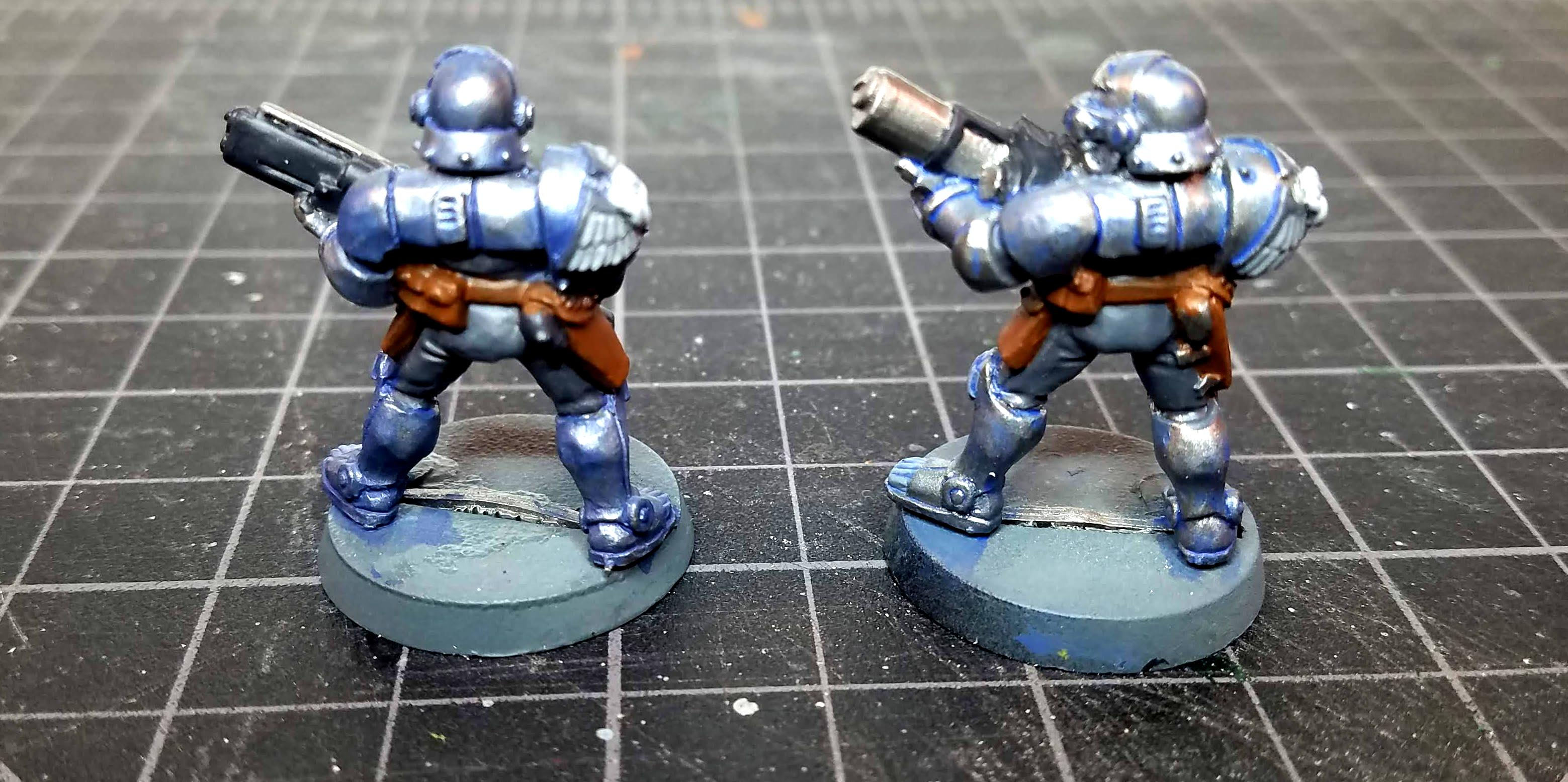 First and second attempts at blue wash
