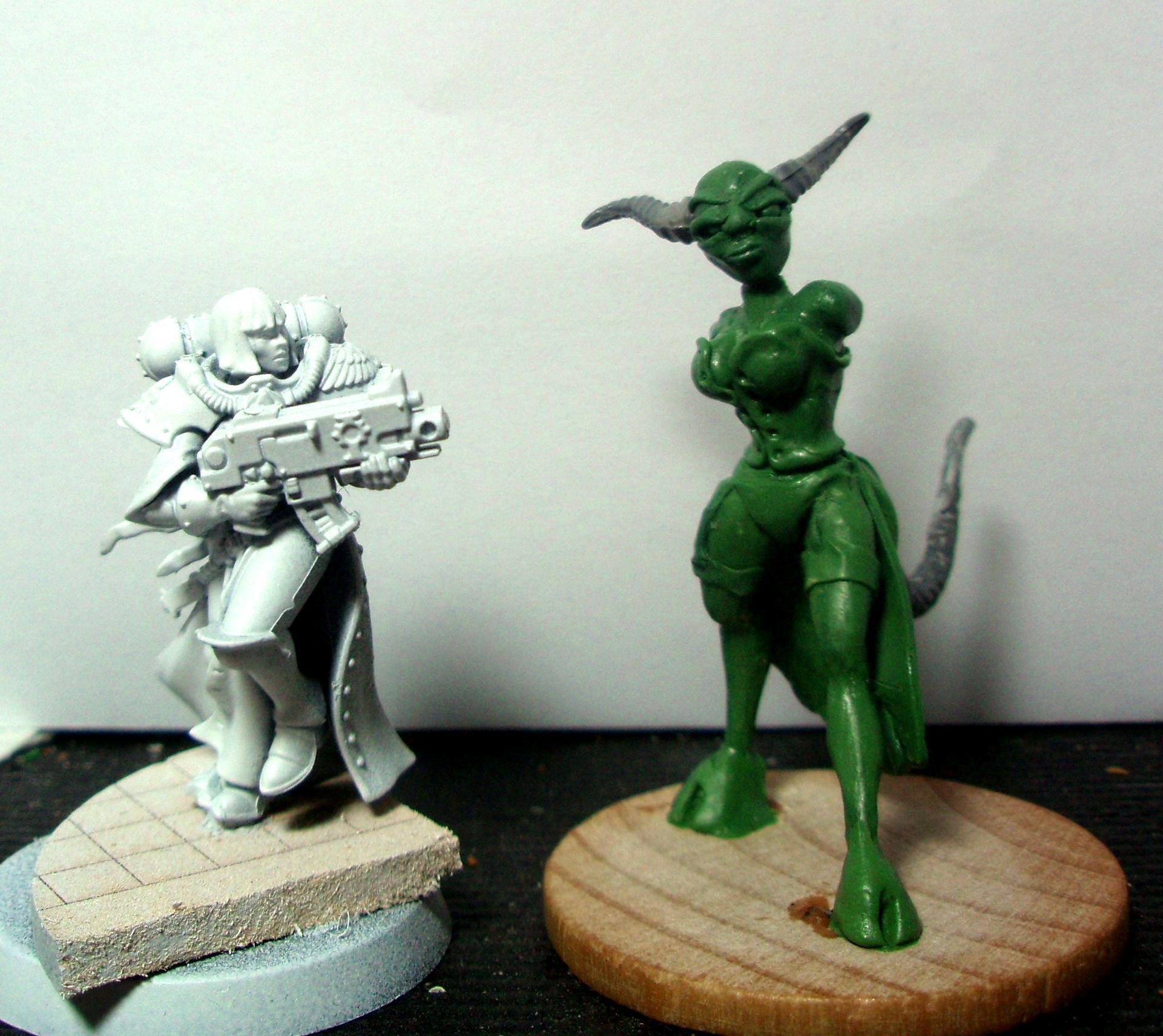 Converting, Daemons, Infernal Enrapturess, Sculpting, Slaanesh