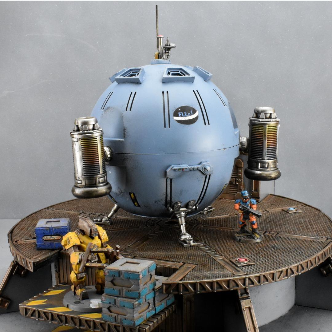 Kitbash, Landing Pad, Maelstrom's Edge, Shuttle, Spaceship, Terrain, Terrain Sprue