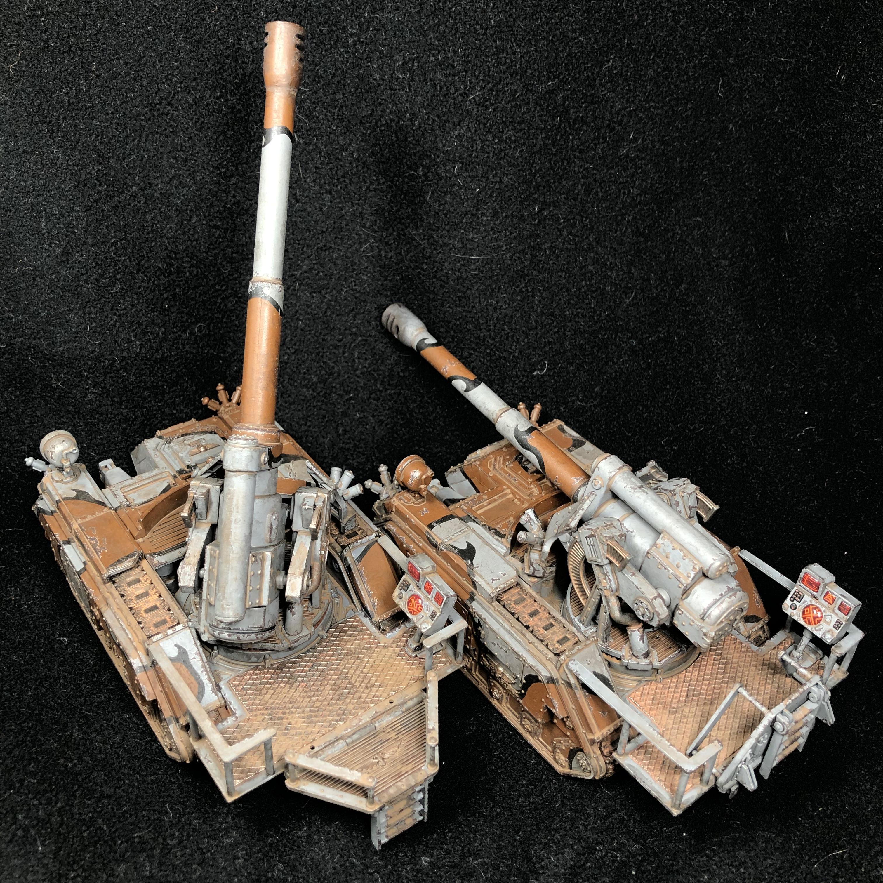 Artillery, Astra Militarum, Basilisk, Cadians, Camouflage, Conversion, Convertion, Earthshaker, Hydra, Imperial Guard, Lenses, Rust, Urban, Warhammer 40,000, Weathered, Wendigo