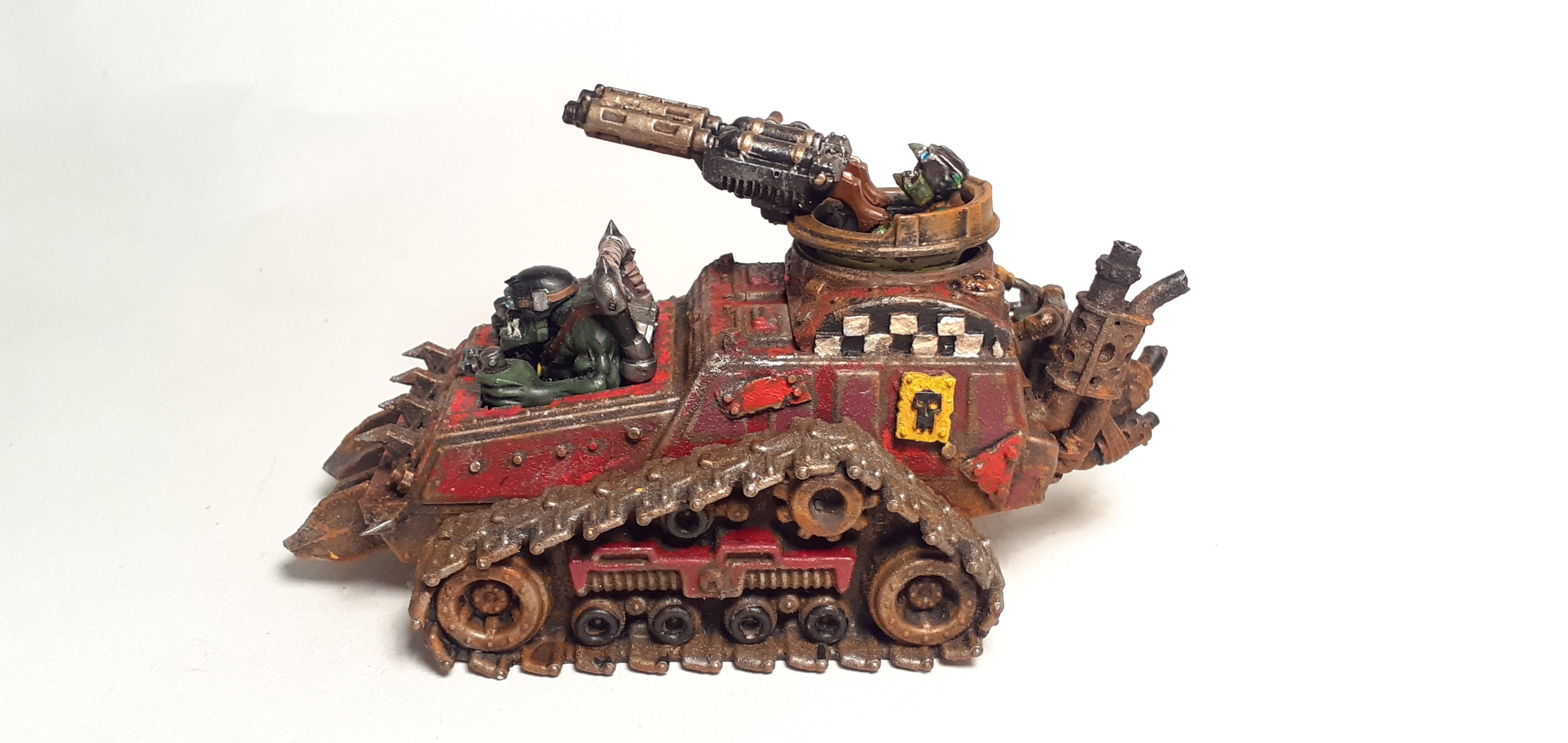 Conversion, Grots, Kitbashed, Ork Conversions, Ork Coustom Made Vehicles, Orks, Scratch Build, Warhammer 40,000, Wartrak