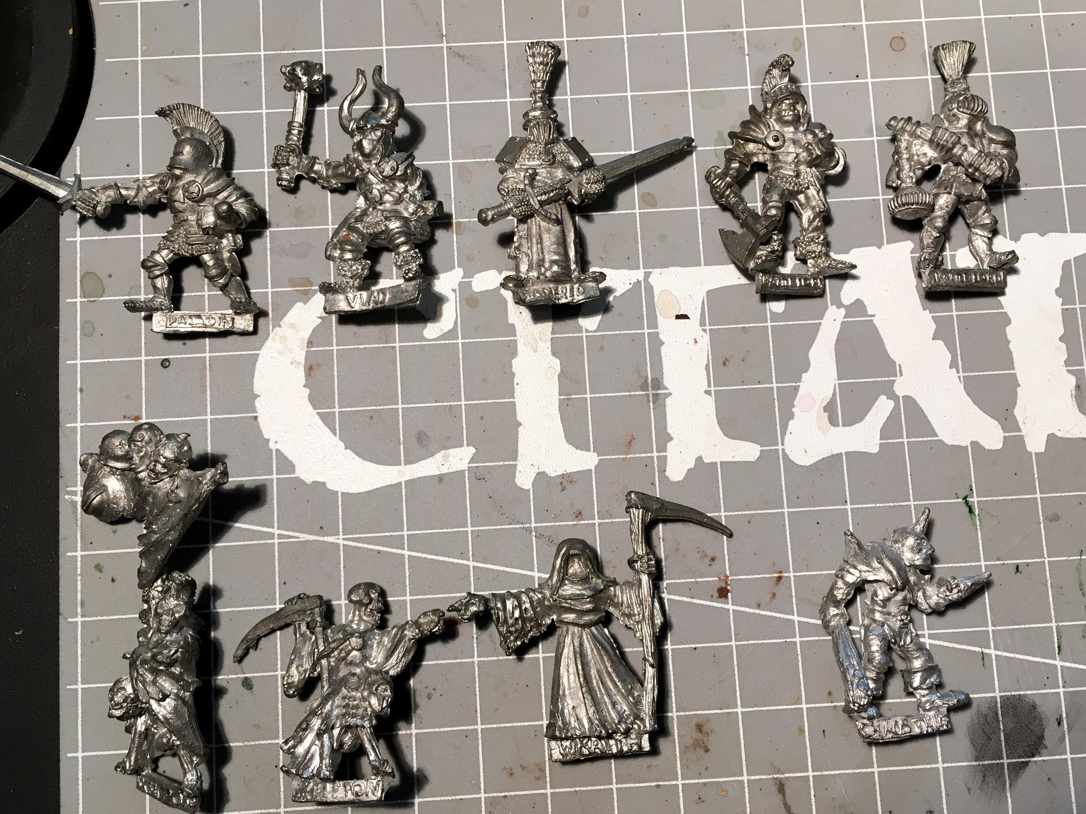 1985, Battle Lord, Chaos Thug, Manfred, Paladin, Skeletons, Vlad, Wraith