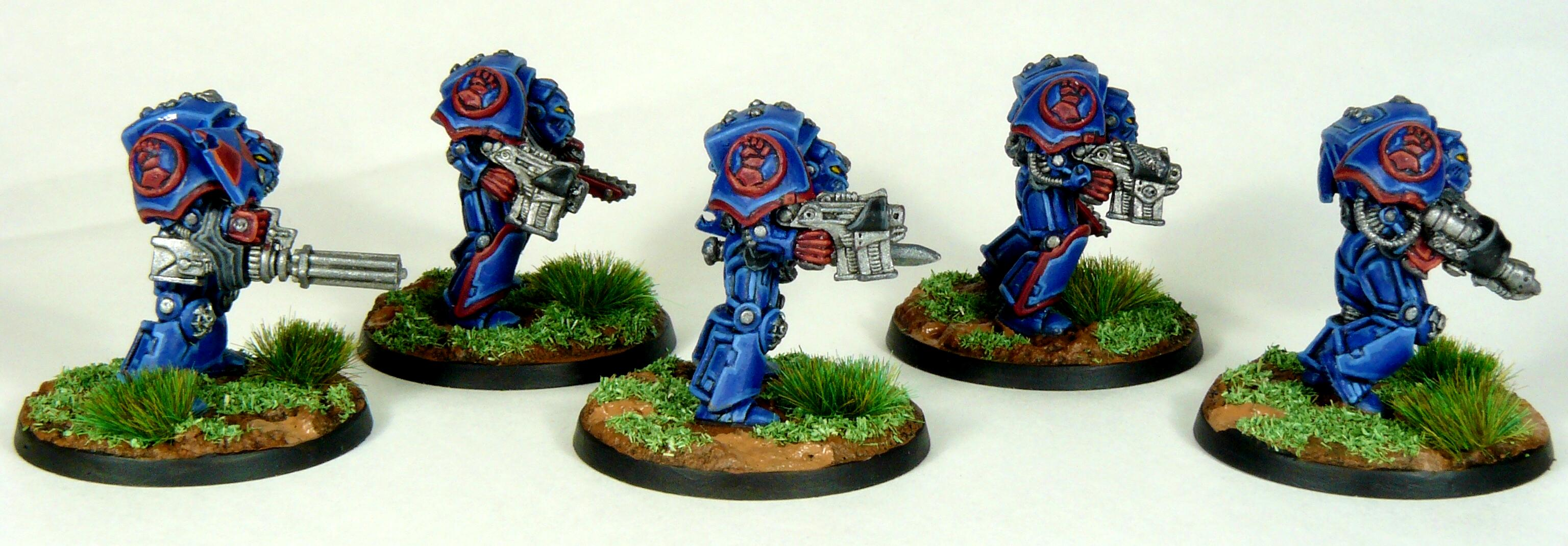 Crimson Fists, Rogue Trader, Rtb9, Space Marines, Terminator Armor, Warhammer 40,000