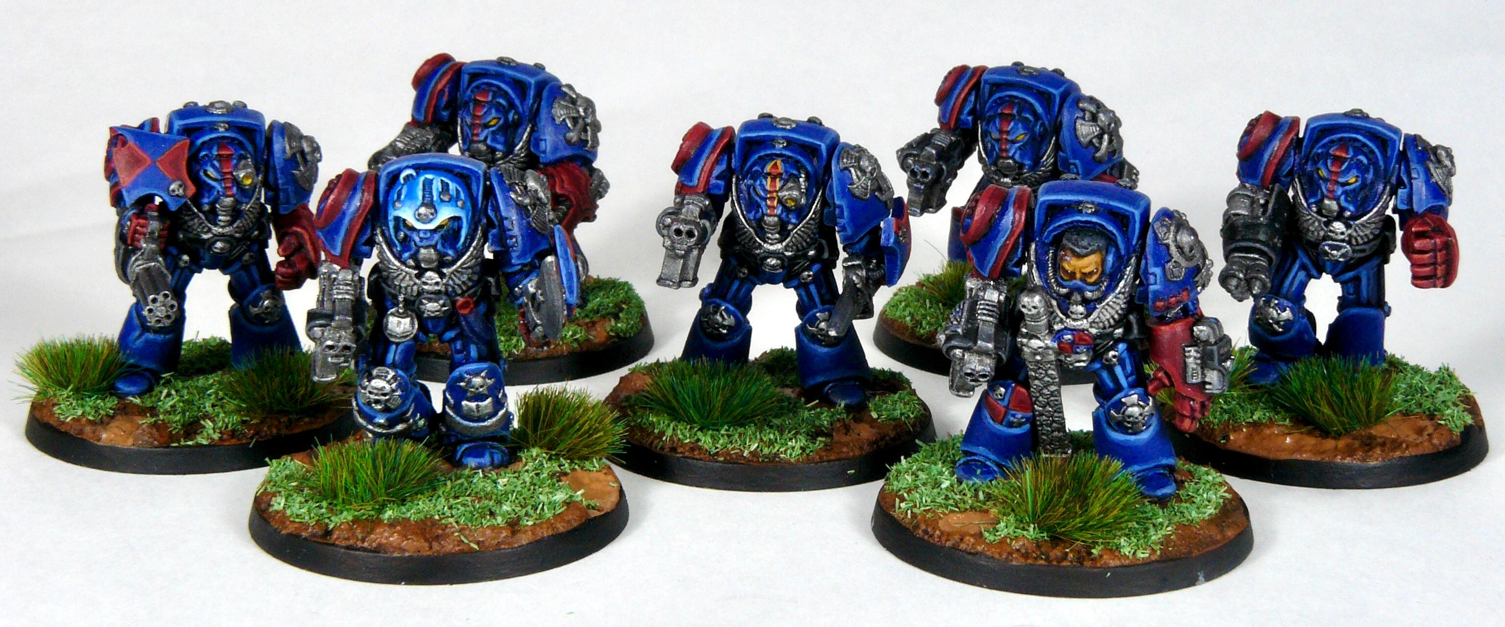 Captain, Crimson Fists, Librarian, Rogue Trader, Rtb9, Space Marines, Terminator Armor, Warhammer 40,000