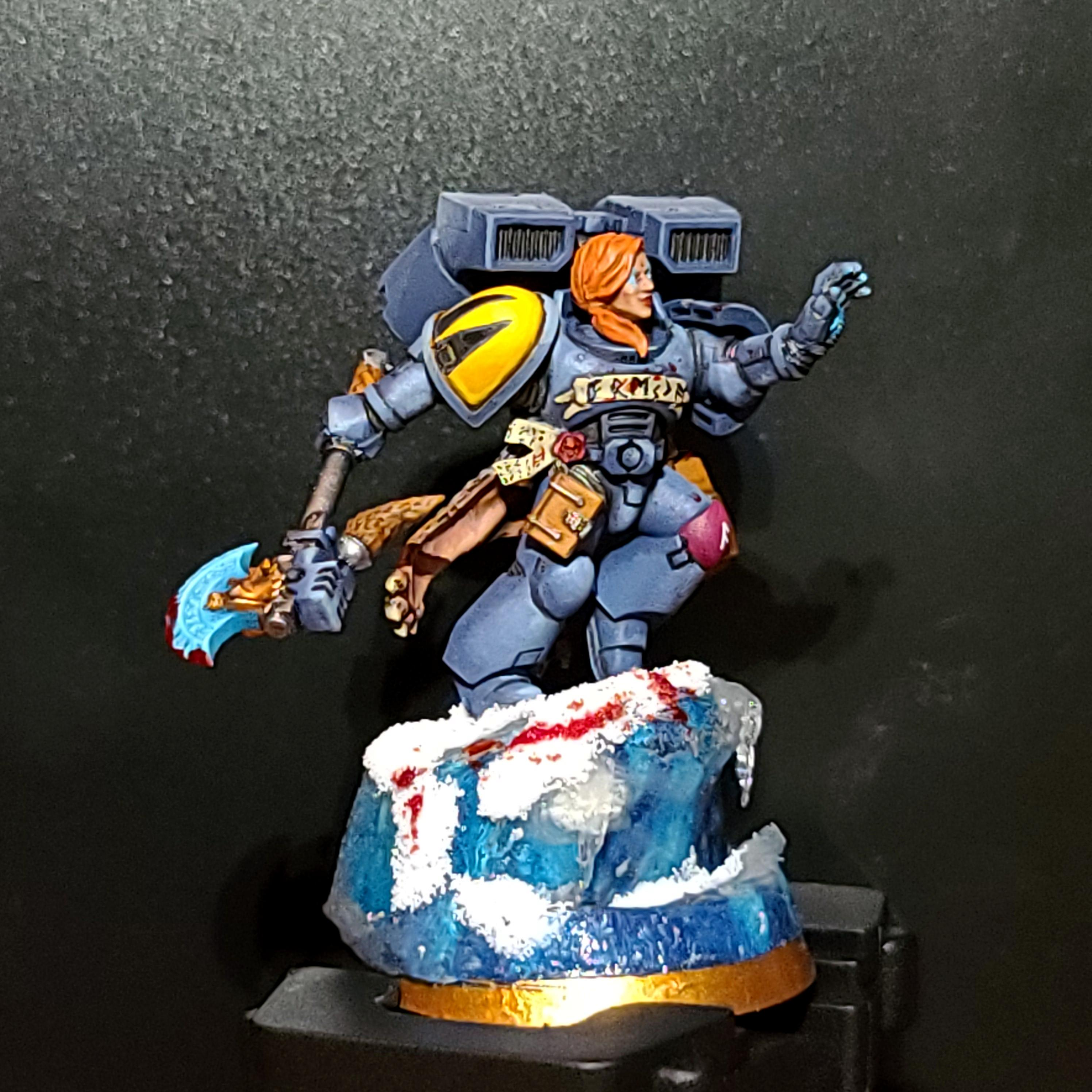 Female, Ice Base, Rune Priest, She Wolf, Space Wolves