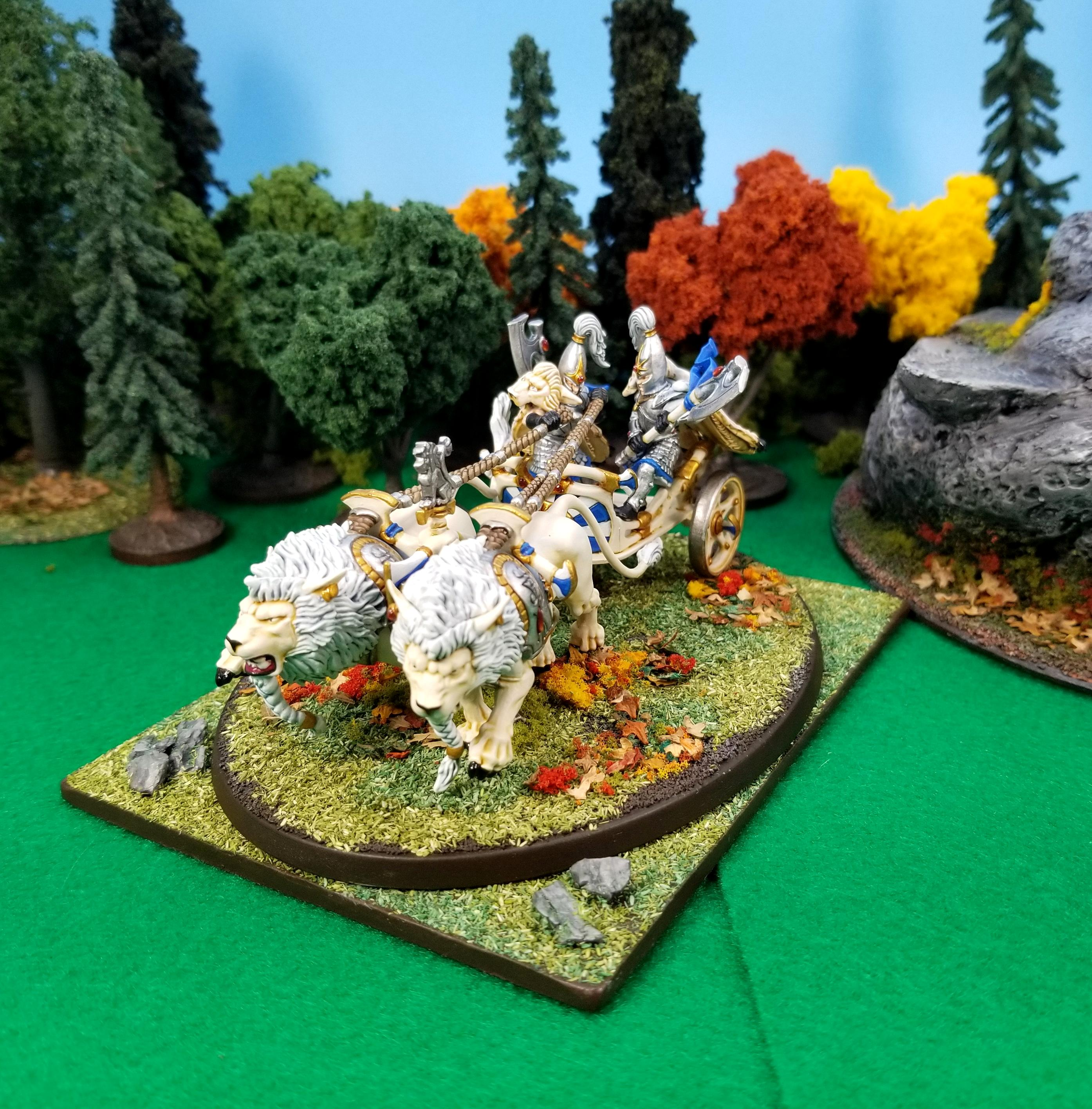 Chariot, High Elves, White Lions