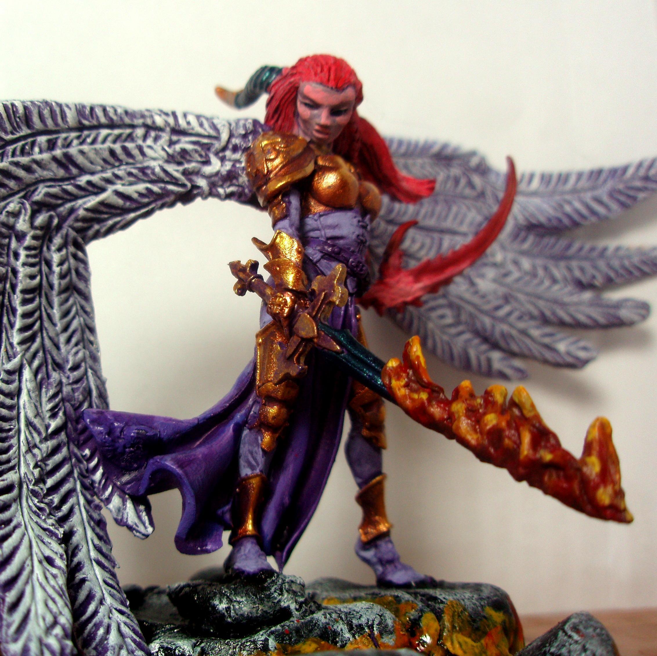 Chaos, Conversion, Daemon Prince, Daemon Princess, Sculpted Wings, Slaanesh
