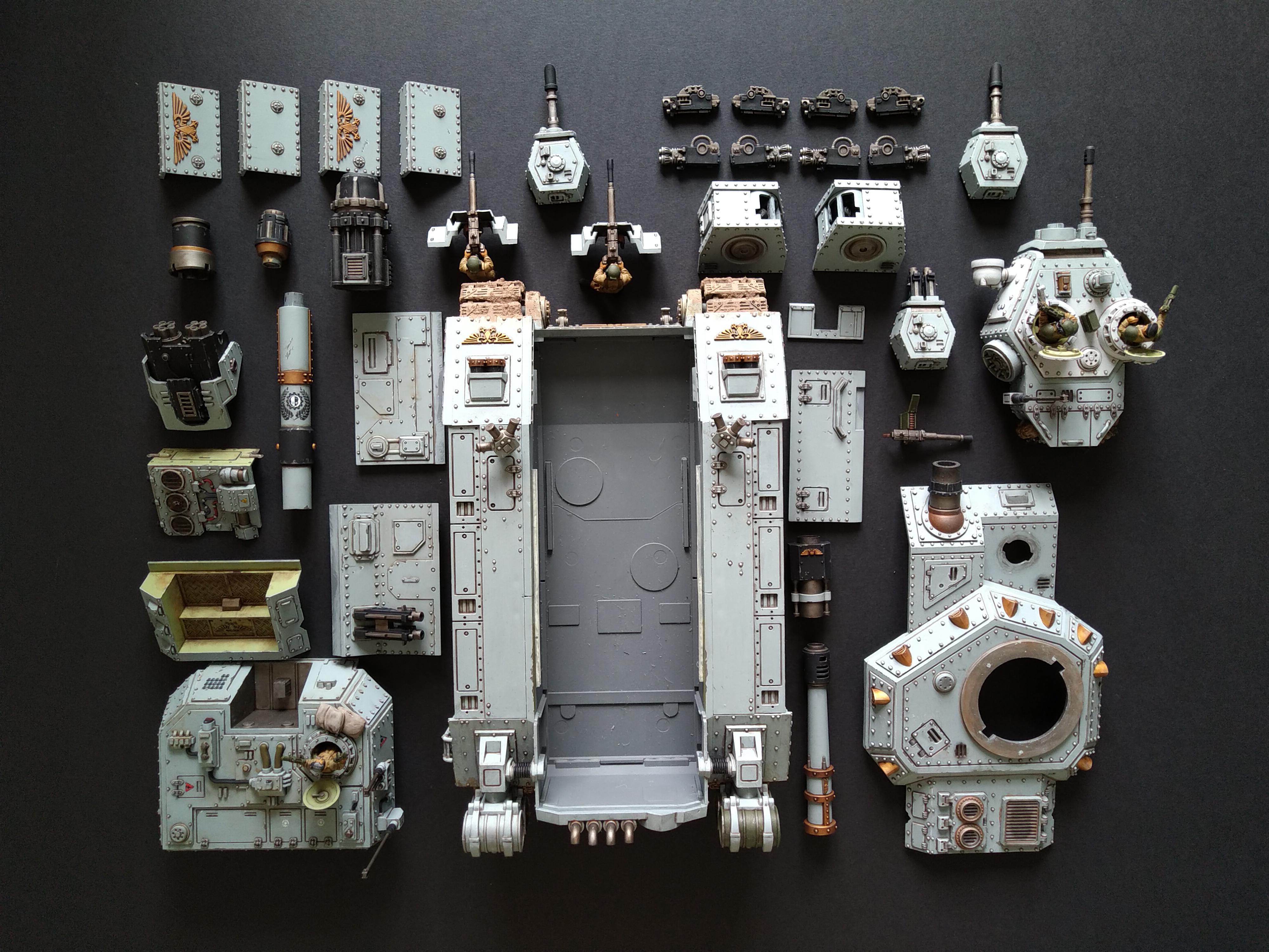 Am, Astra Militarum, Baneblade, Exploded View, Grey, Magnet, Tank, Warhammer 40,000