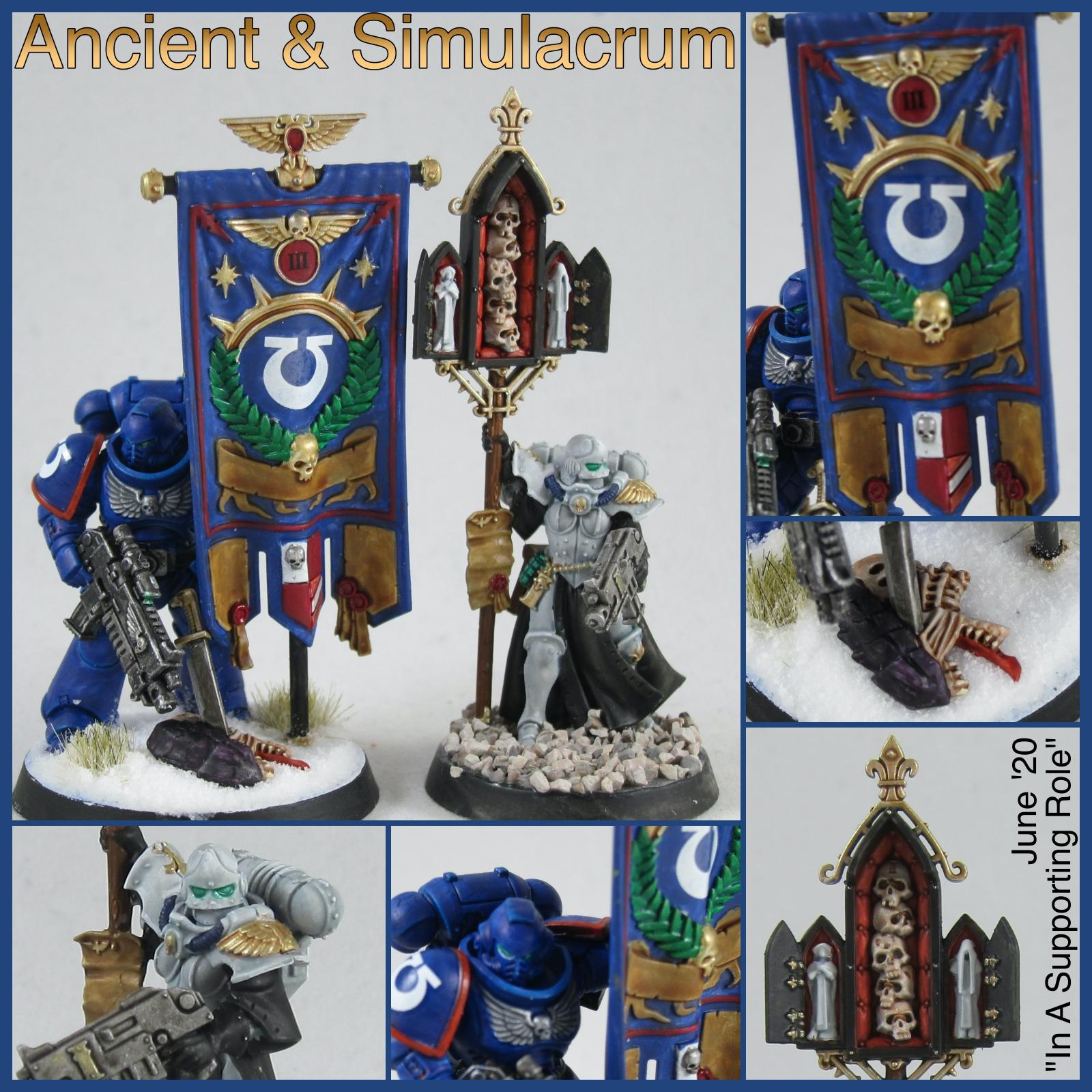 Ancient, Banner, Sisters Of Battle, Space Marines