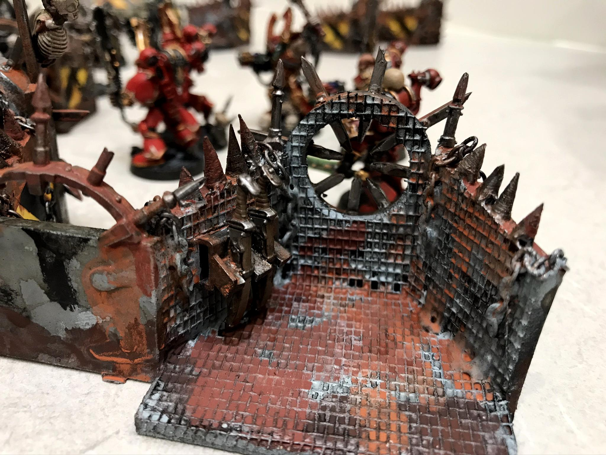 Aegis Defence Line, Chaos Space Marines, Chaos Terrain, Iron Warriors